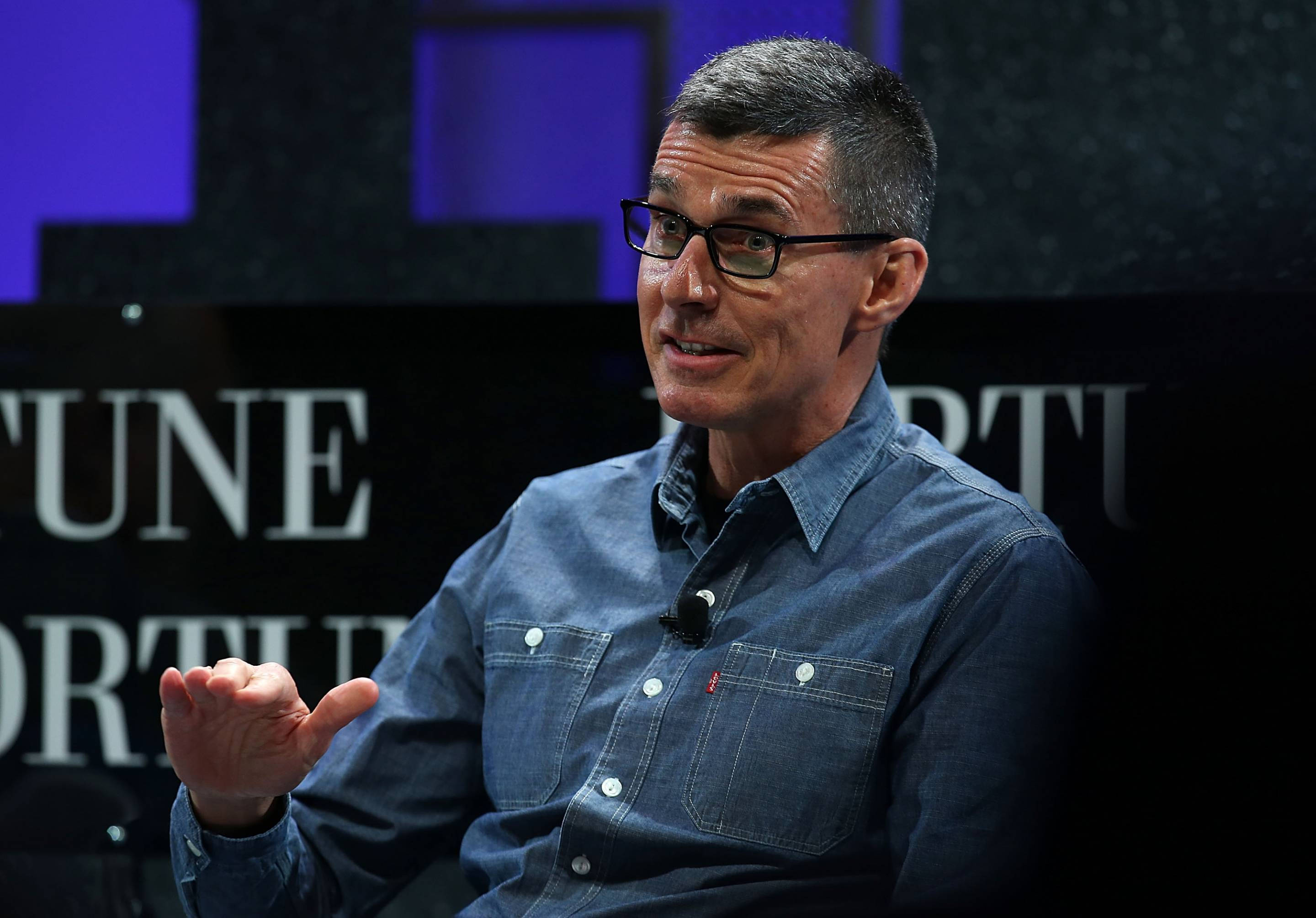 Levi Strauss & Co. president and CEO Chip Bergh speaks during the Fortune Global Forum on November 3, 2015 in San Francisco.