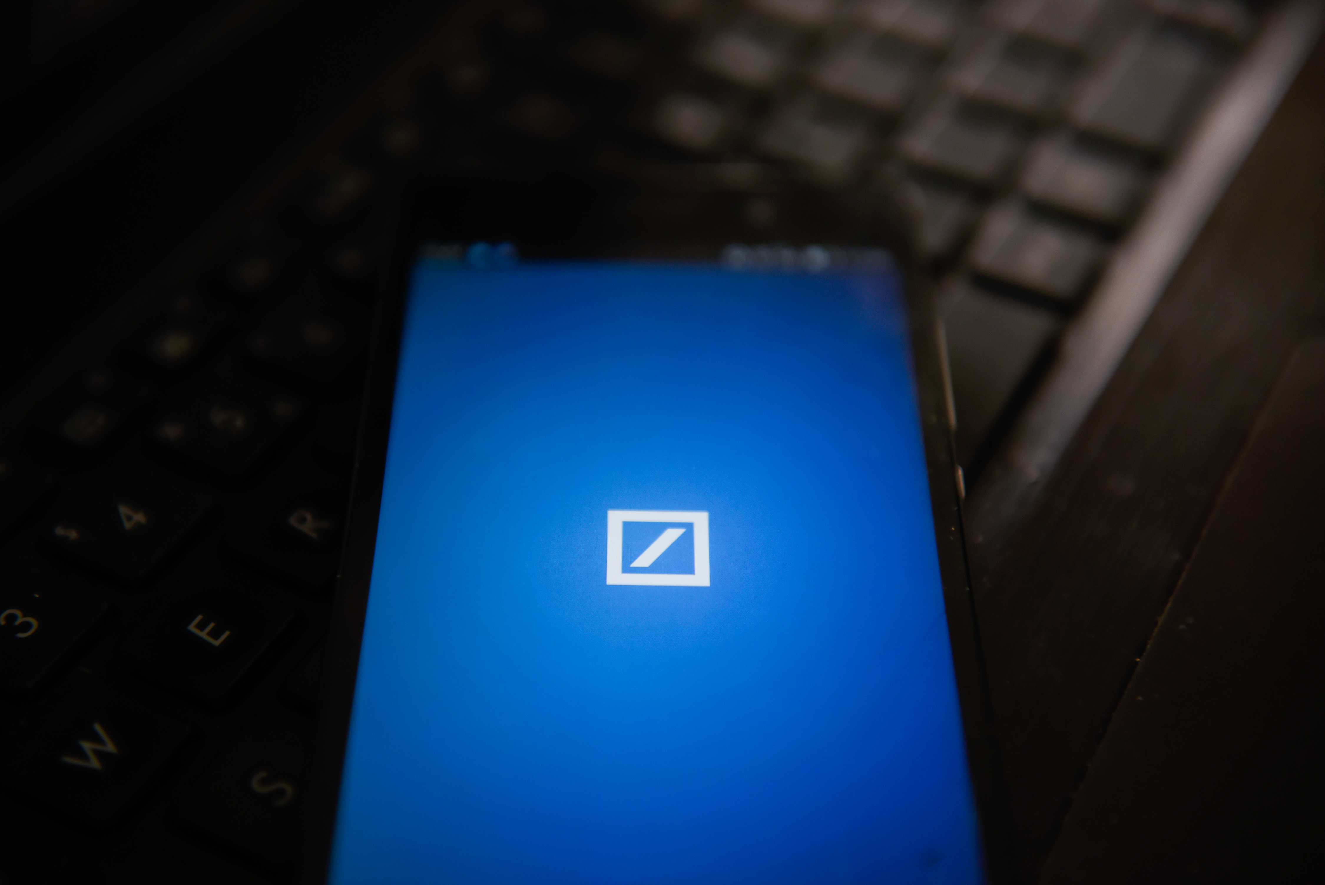 Deutsche bank app is seen in an Android mobile device