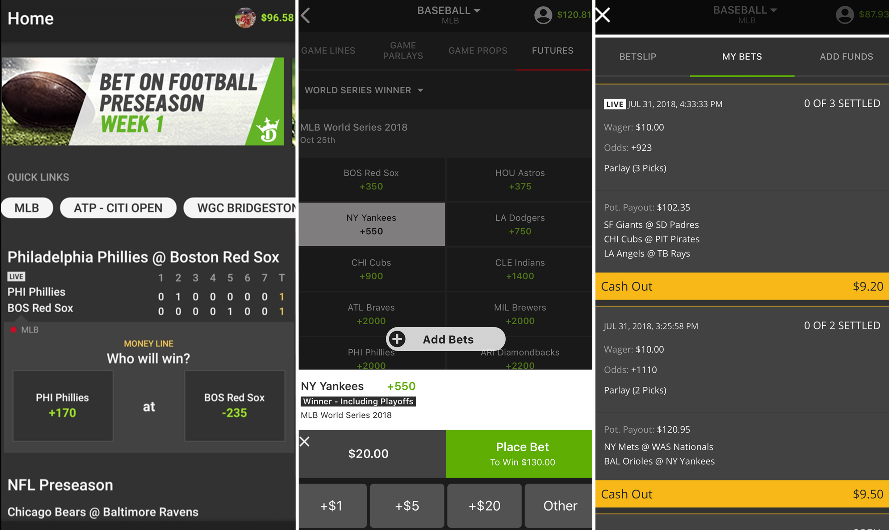 Can you make sports bets on draftkings free bitcoins 2021