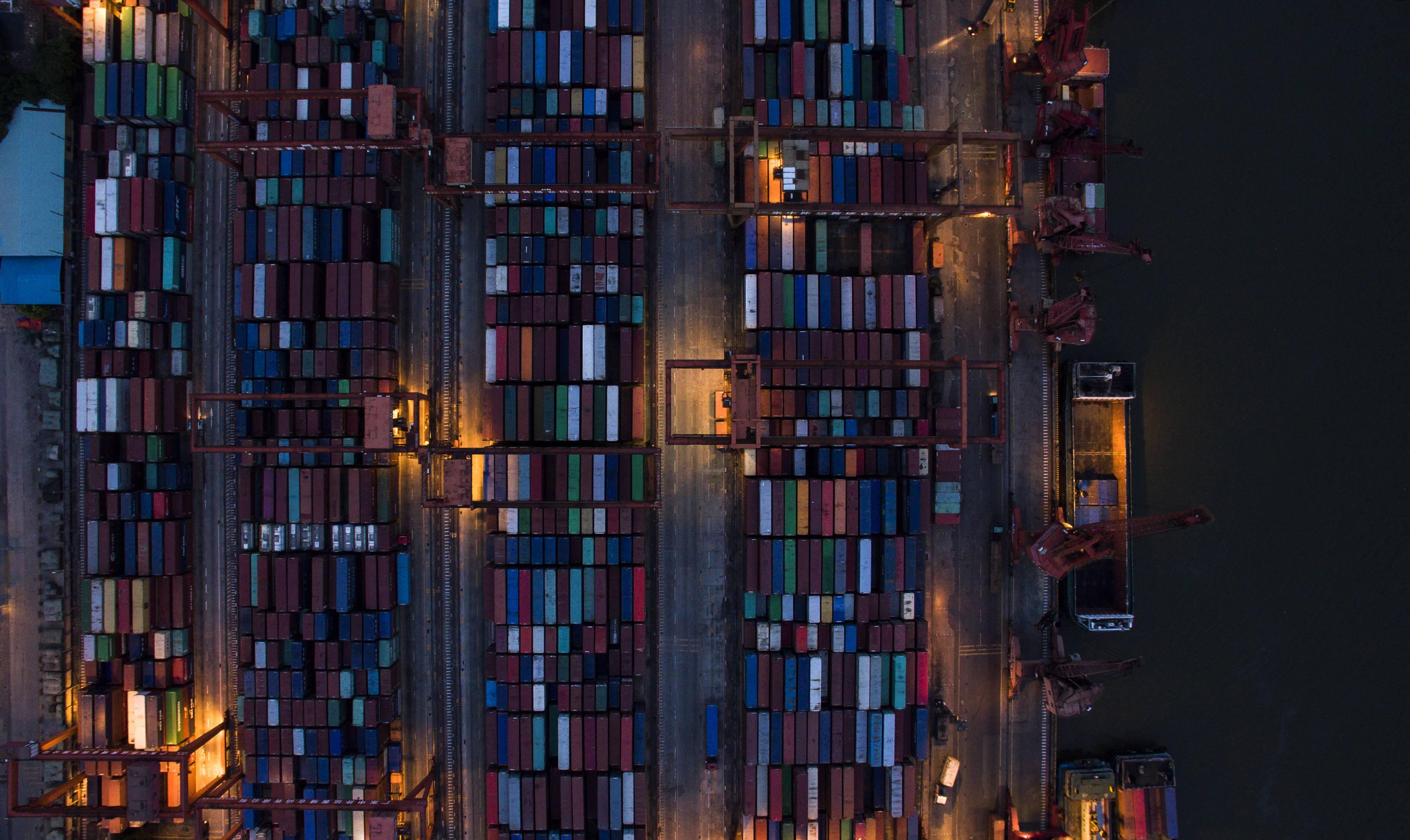 An Aerial View Of Huangpu Port In Guangzhou