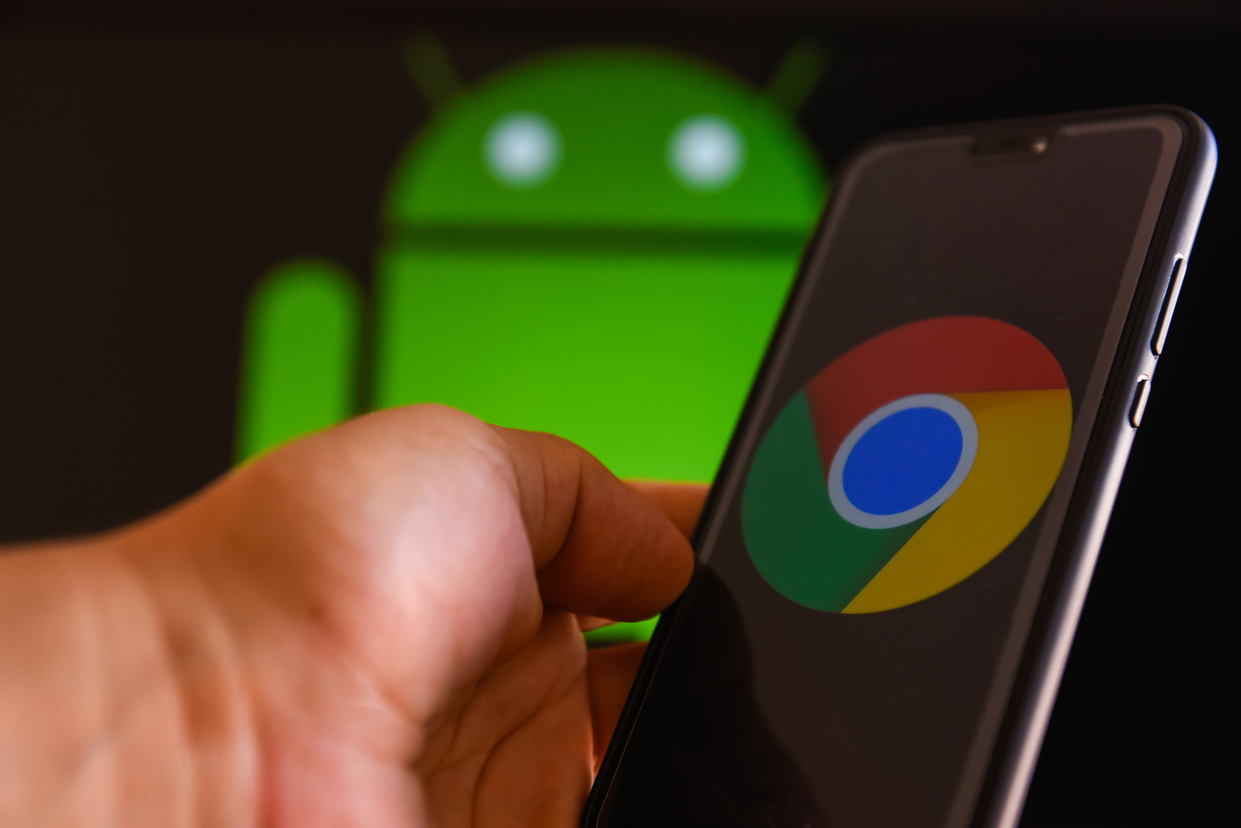 Google Chrome logo is seen on a mobile phone