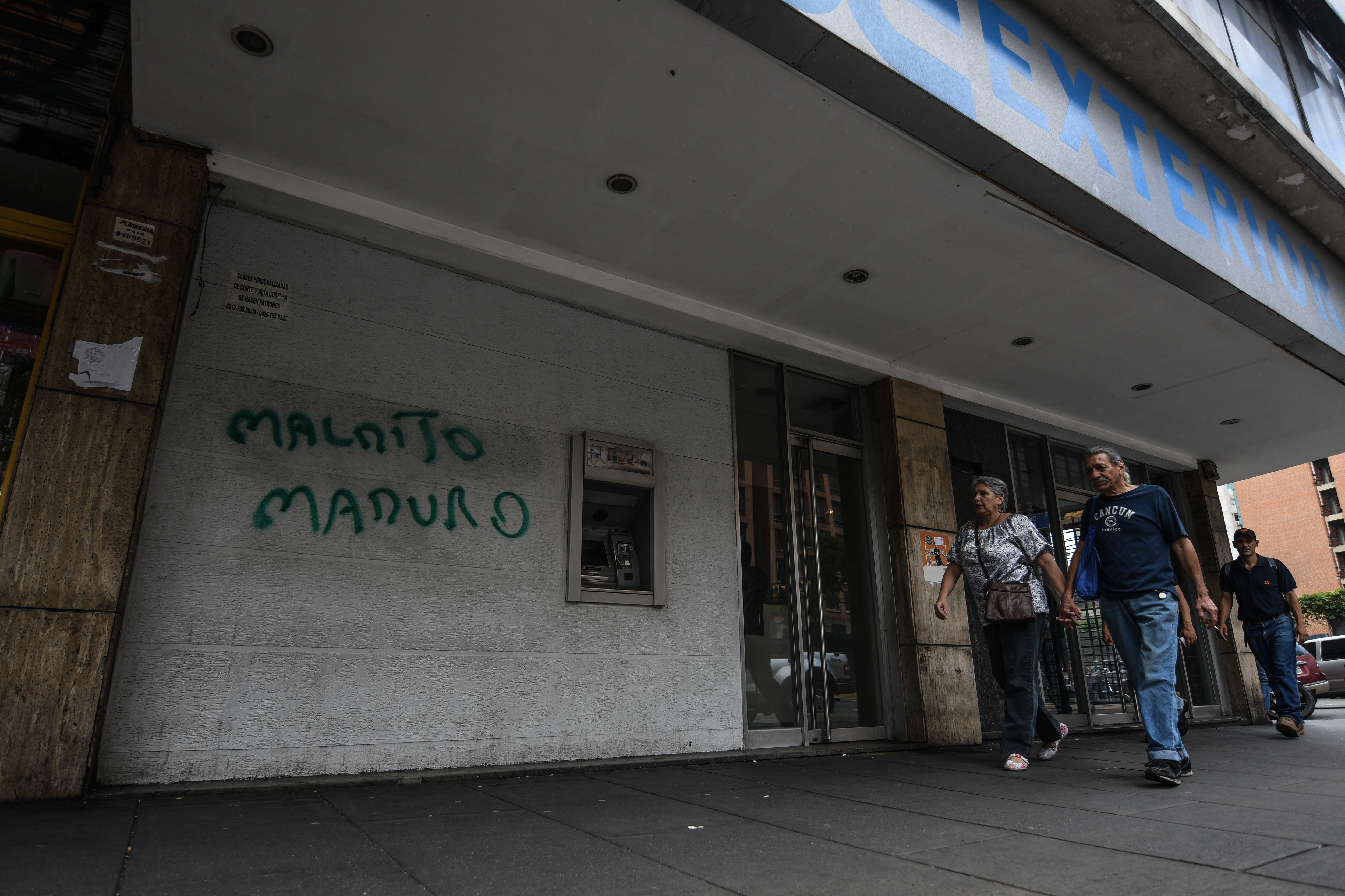 Stores seen closed in Caracas.The opposition called for a