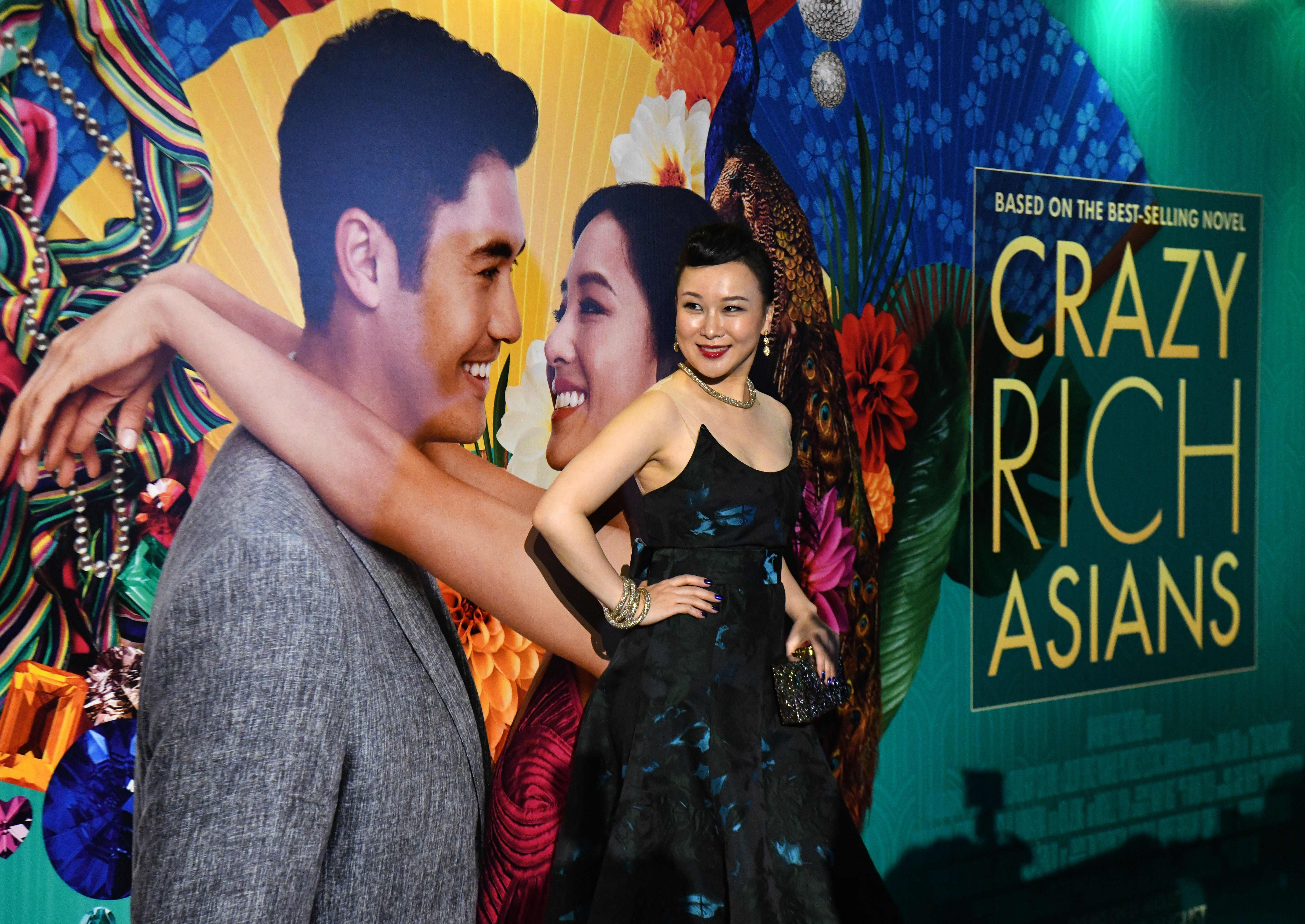 """Chinese actress Jasmine Chen at the premier of the film """"Crazy Rich Asians"""" in Singapore."""