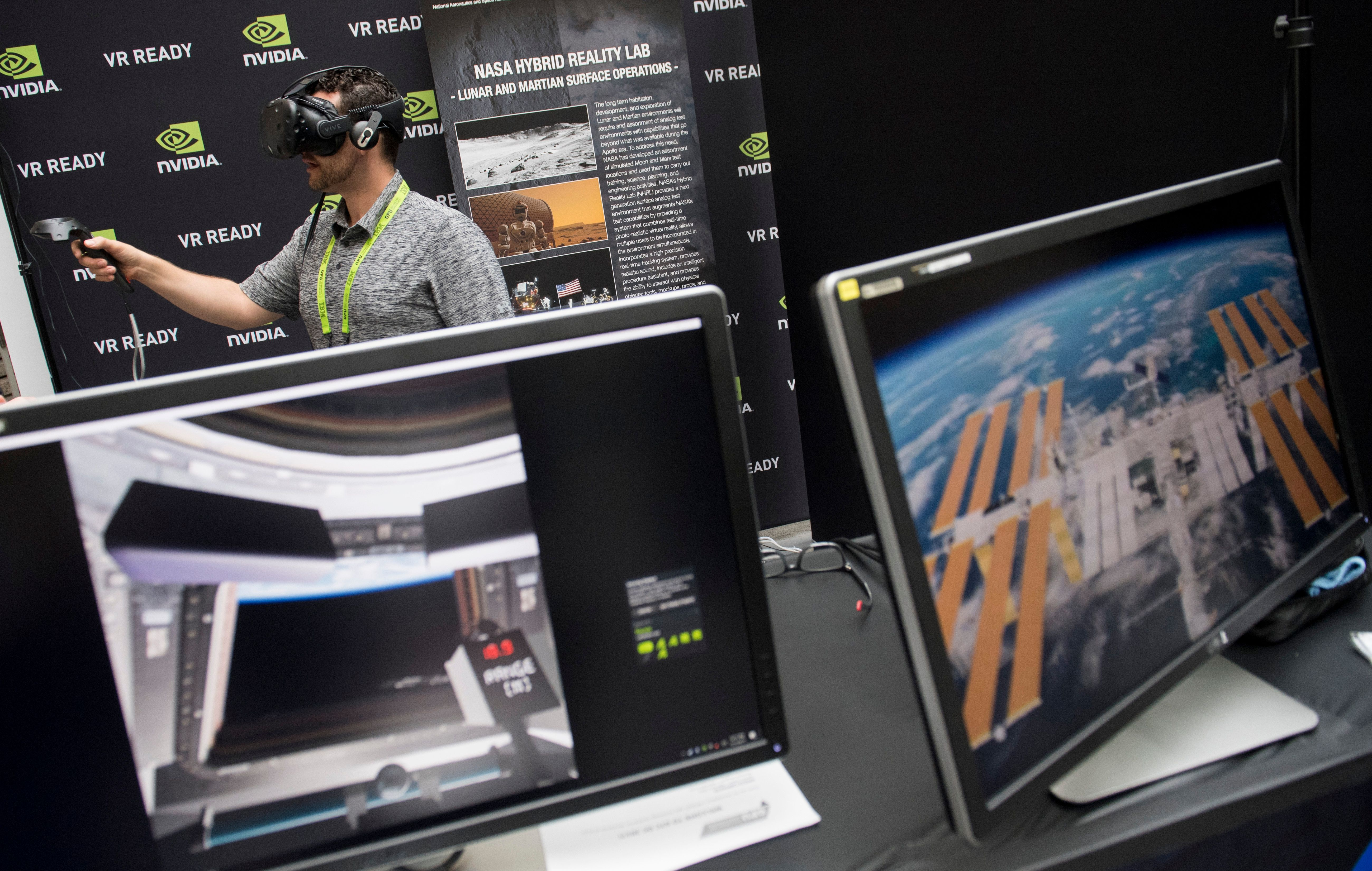 nvidia powered virtual reality gear