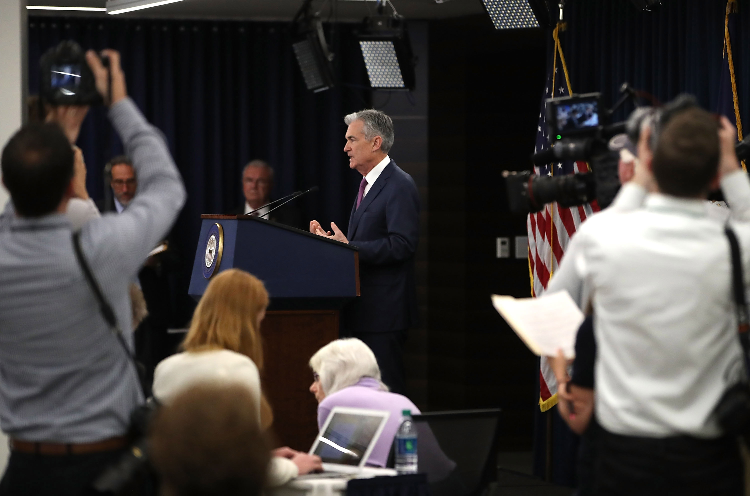 Federal Reserve Chairman Jerome H. Powell Holds News Conference