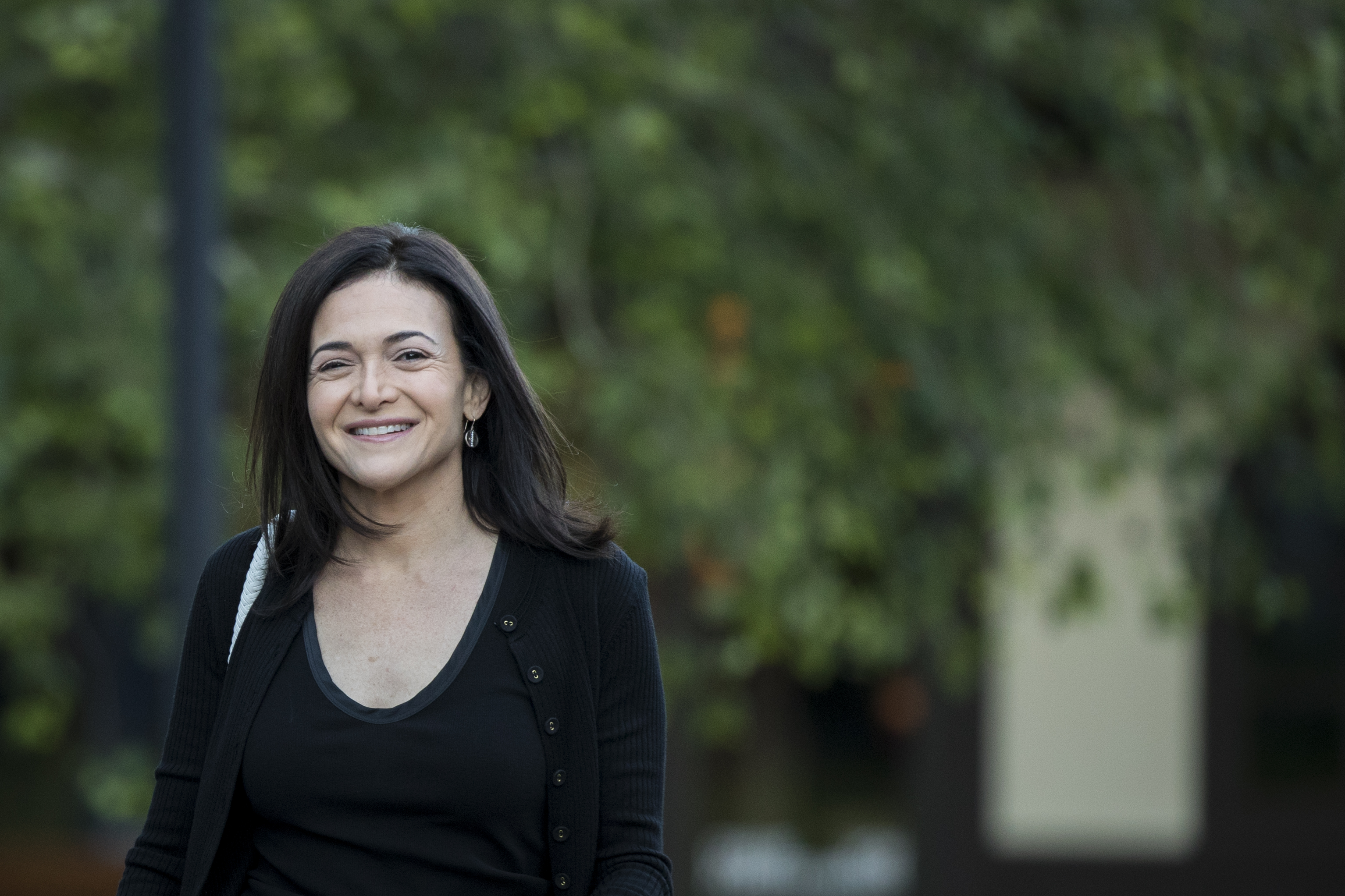 Facebook COO Sheryl Sandberg owns nearly10% of the company via shares she received from her late husband Dave Goldberg. (Photo by Drew Angerer/Getty Images)