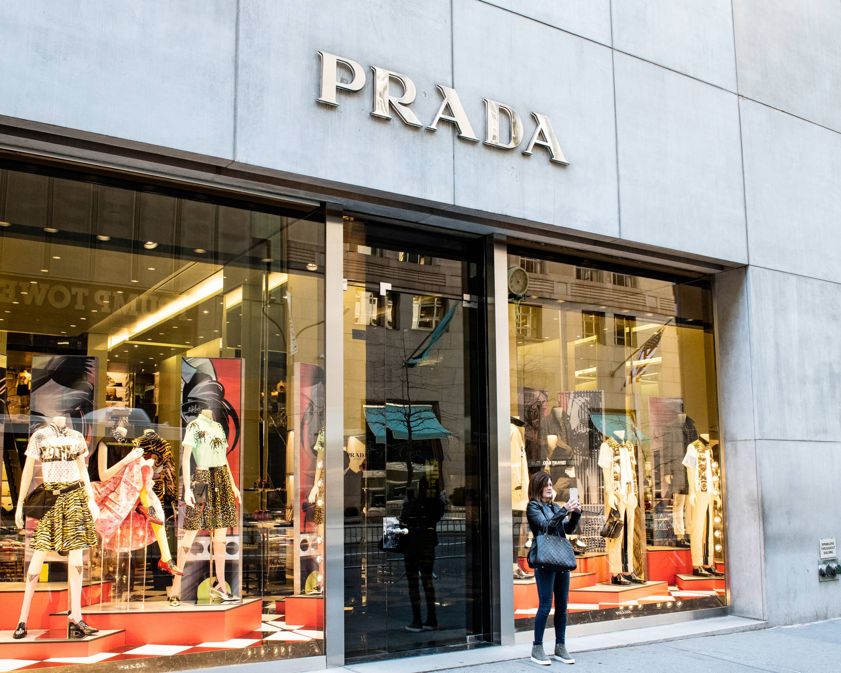 Prada store on Fifth Avenue in New York City