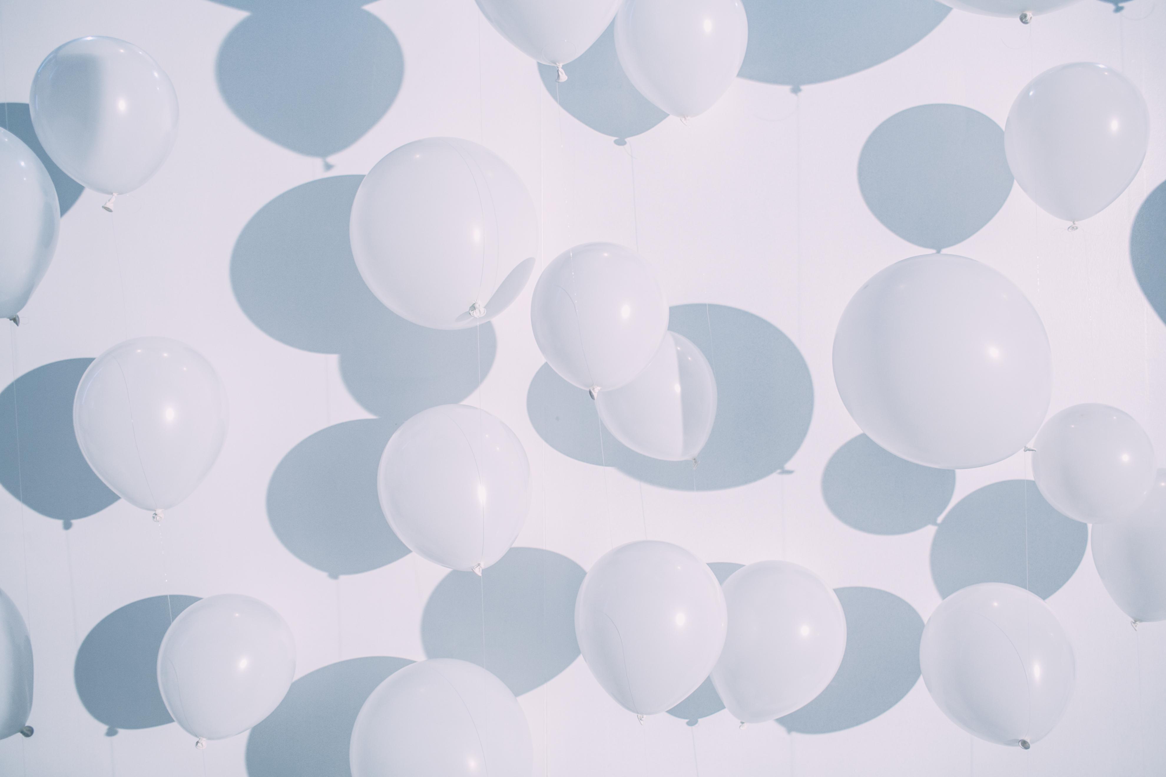 Full Frame Shot Of Balloons Against White Background