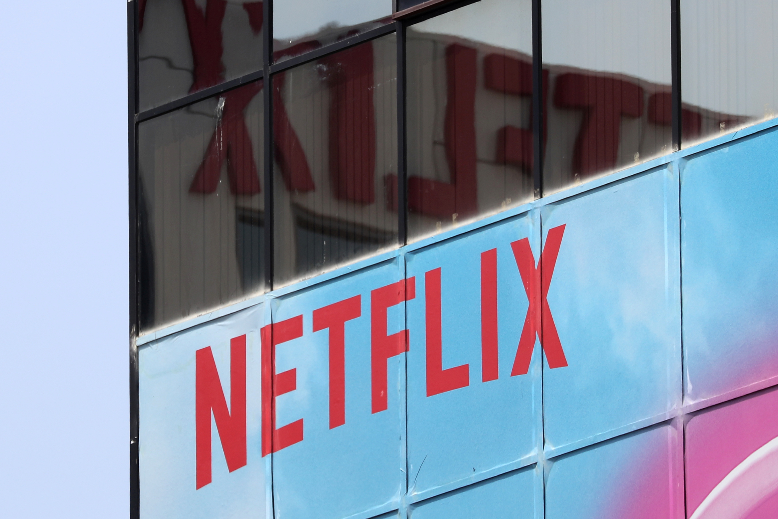 The Netflix logo is seen on their office in Hollywood, Los Angeles