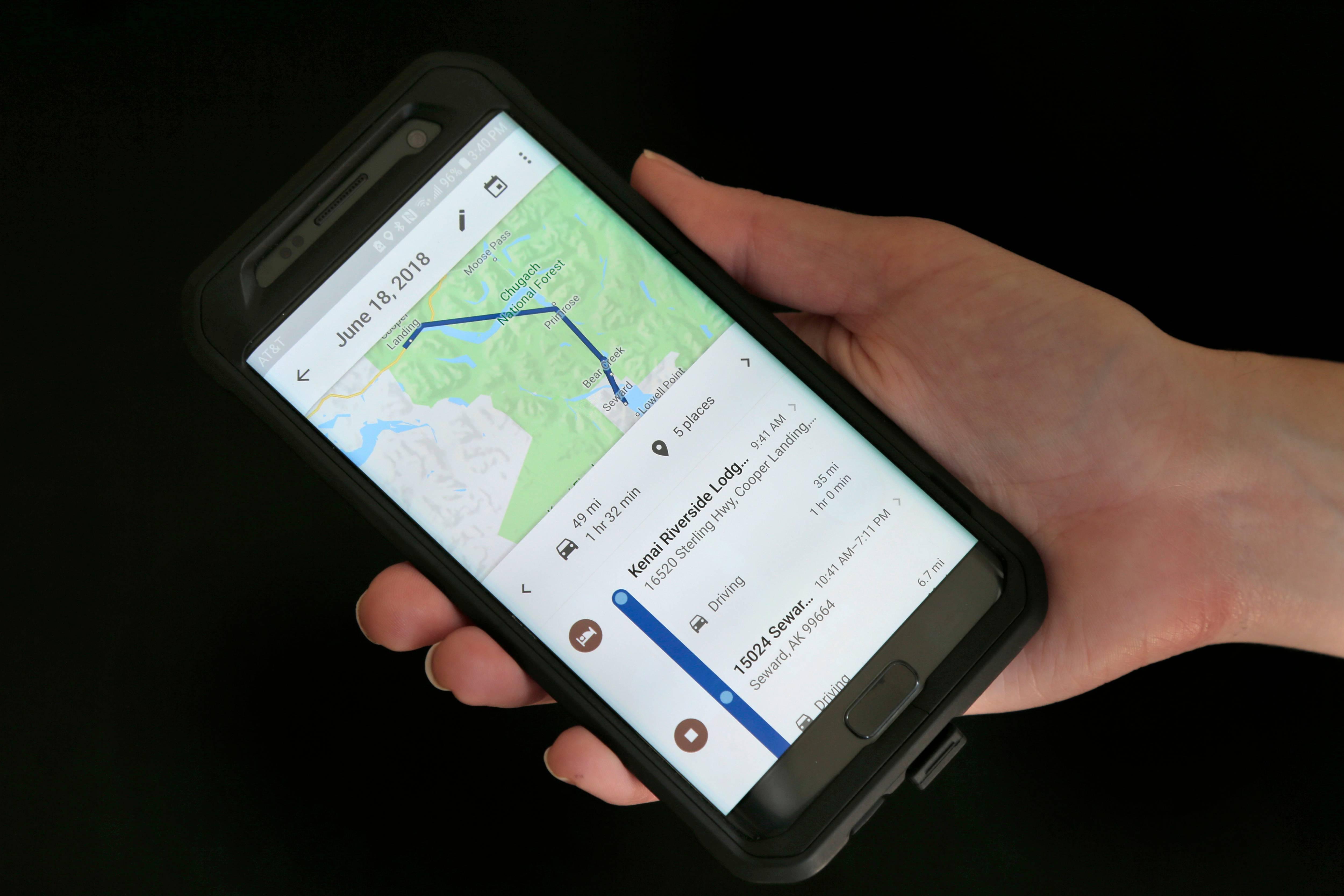 Google Location Tracking, New York, USA - 08 Aug 2018