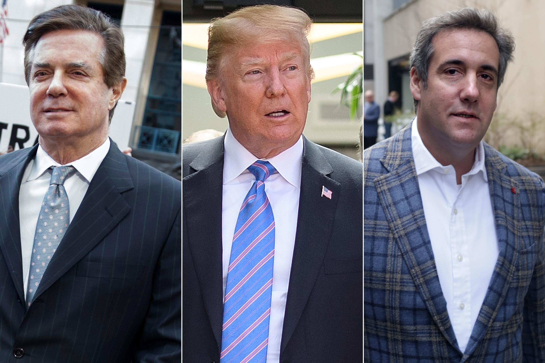 Manafort, Trump, and Cohen.