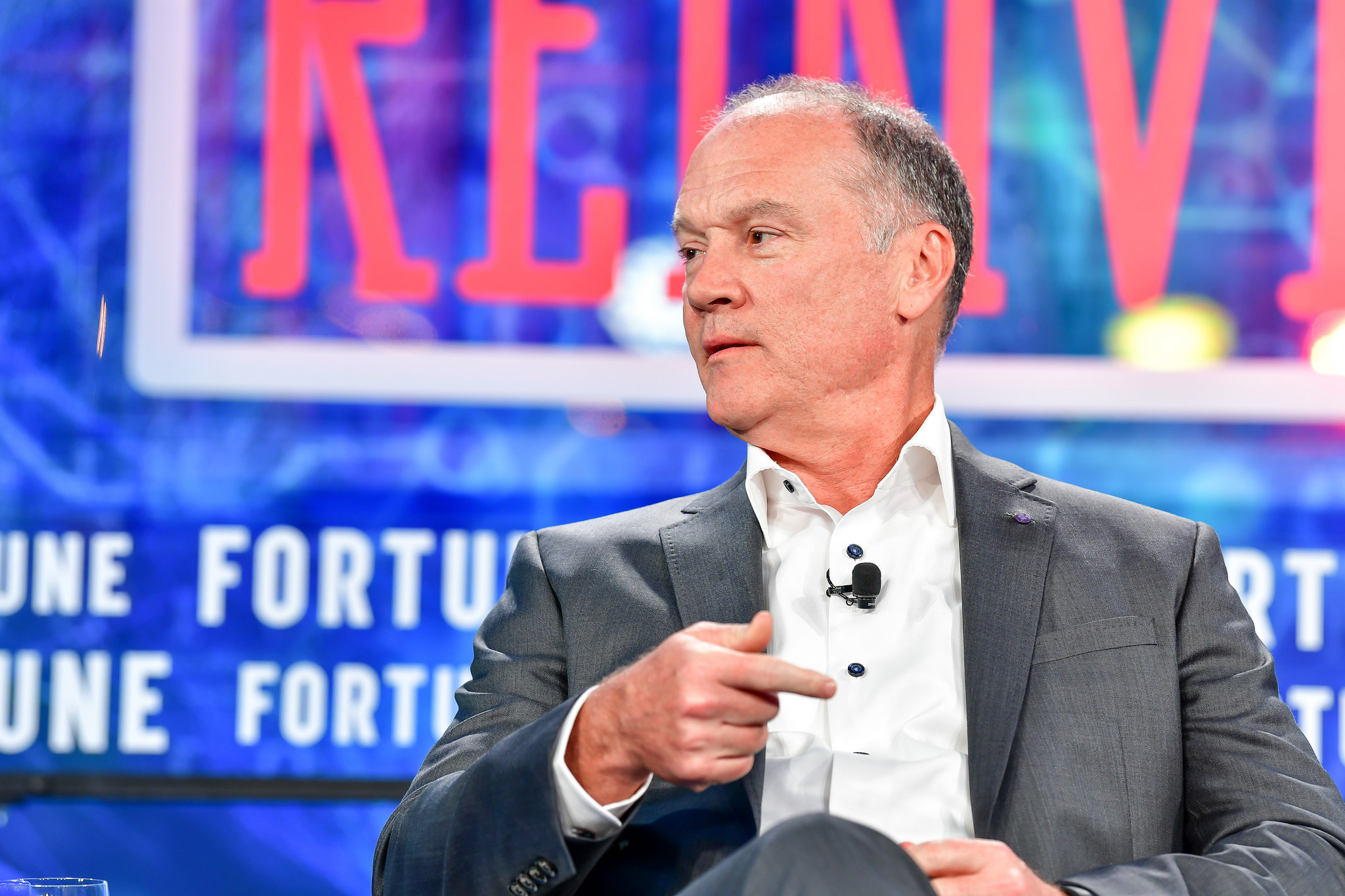 AT&T Communications CEO John Donovan speaks at Fortune Brainstorm Reinvent about the Department of Justice's attempts to block its merger with Time Warner.