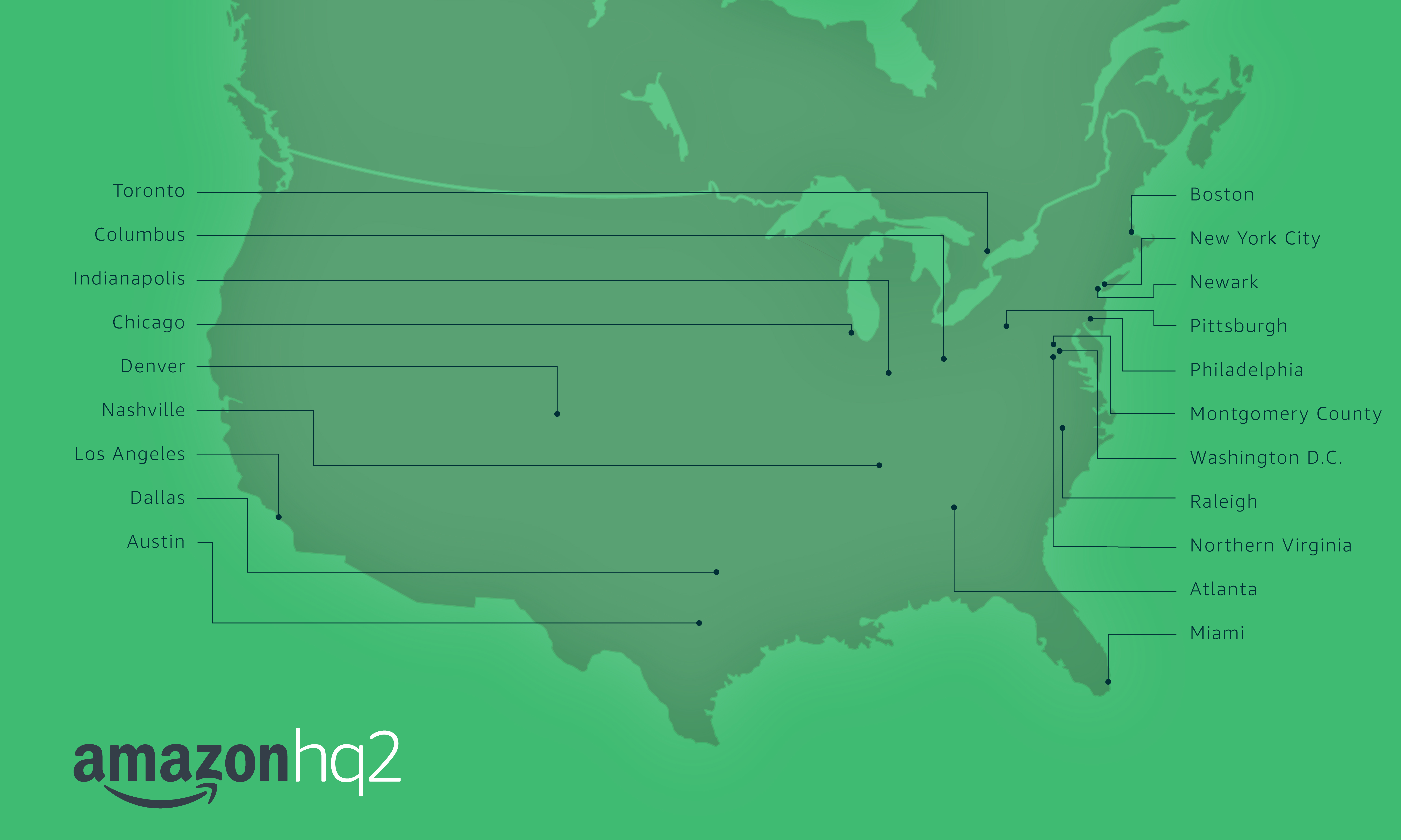 amazon hq2 candidate cities