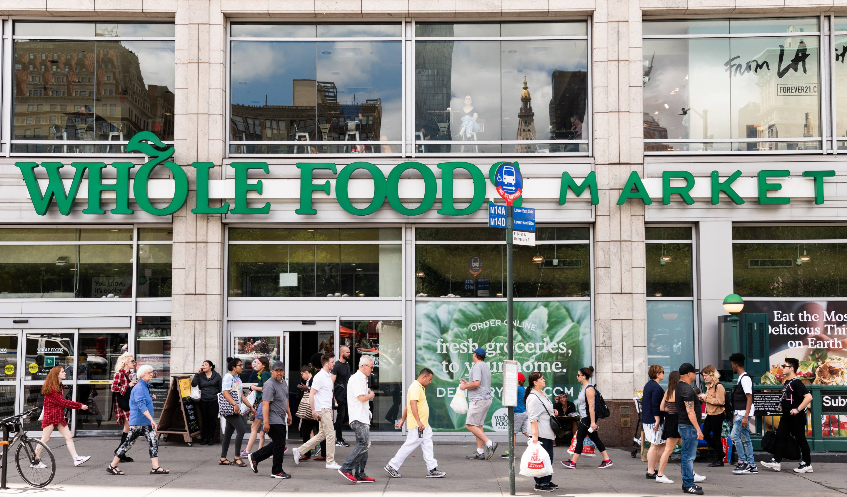 Whole Foods Market in Union Square in New York City