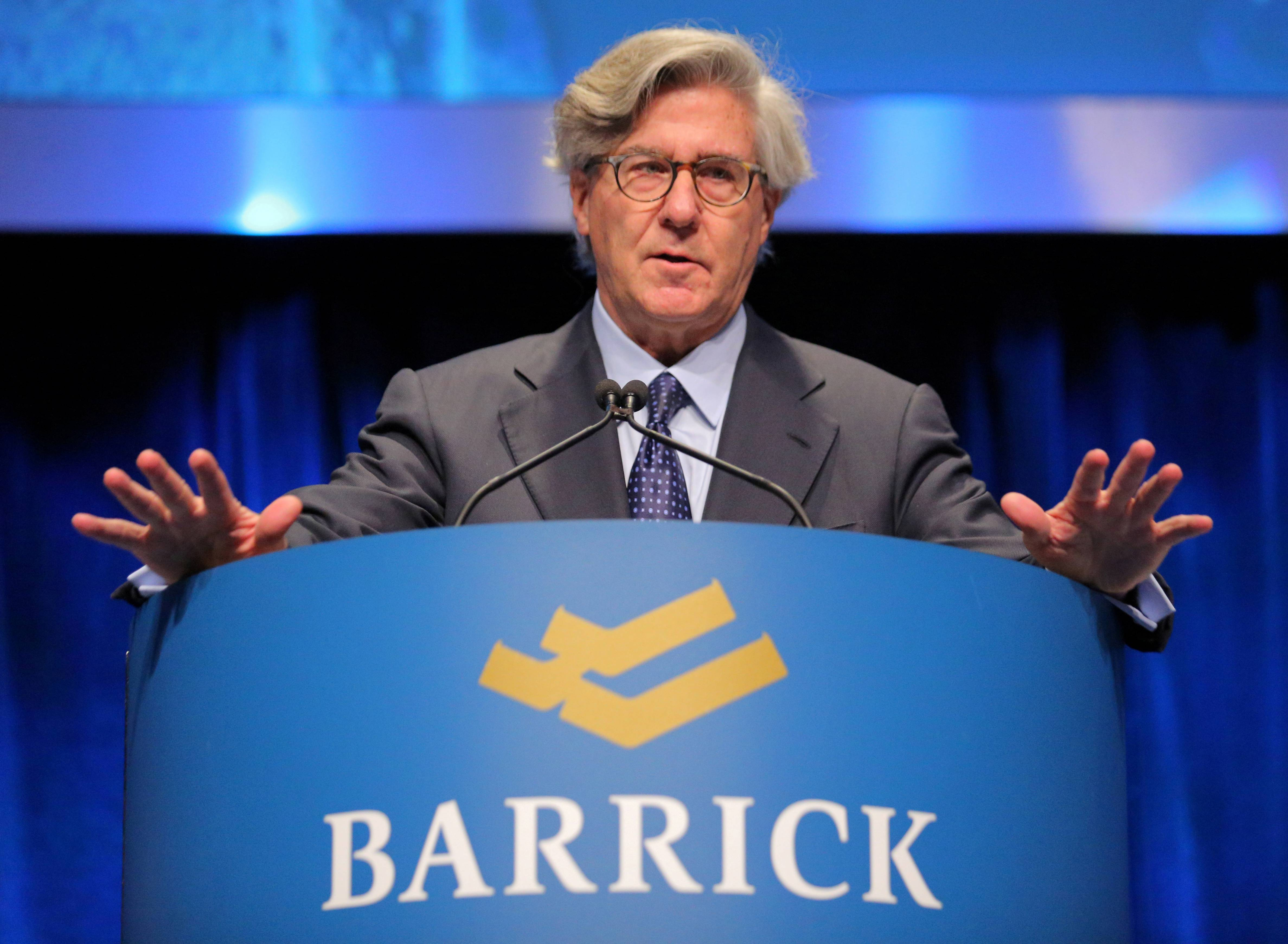 FILE PHOTO: Barrick Gold Executive Chairman John Thornton attends the company's annual shareholders meeting in Toronto