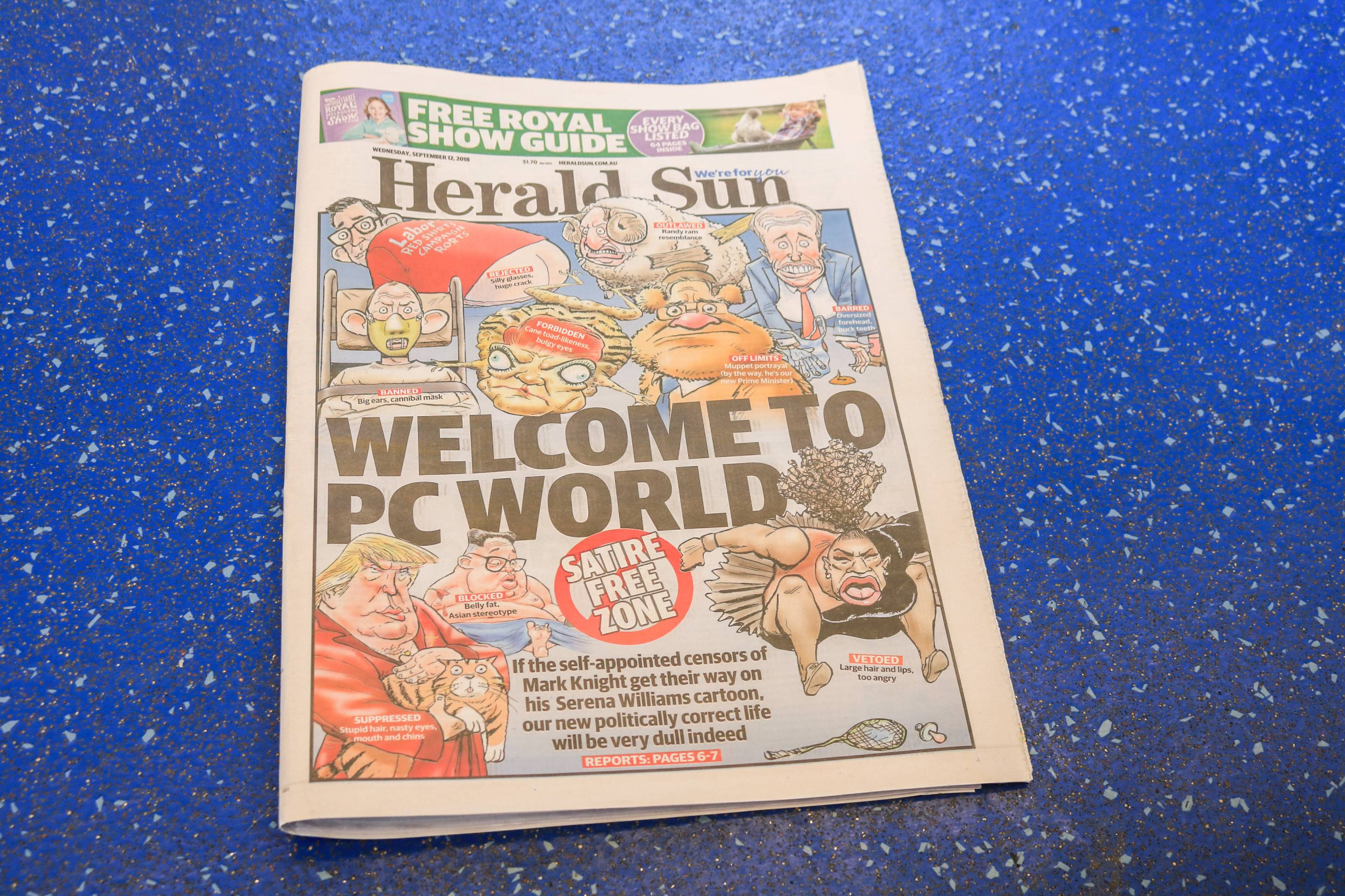 News Corp Newspaper Puts Serena Williams Cartoon on Front