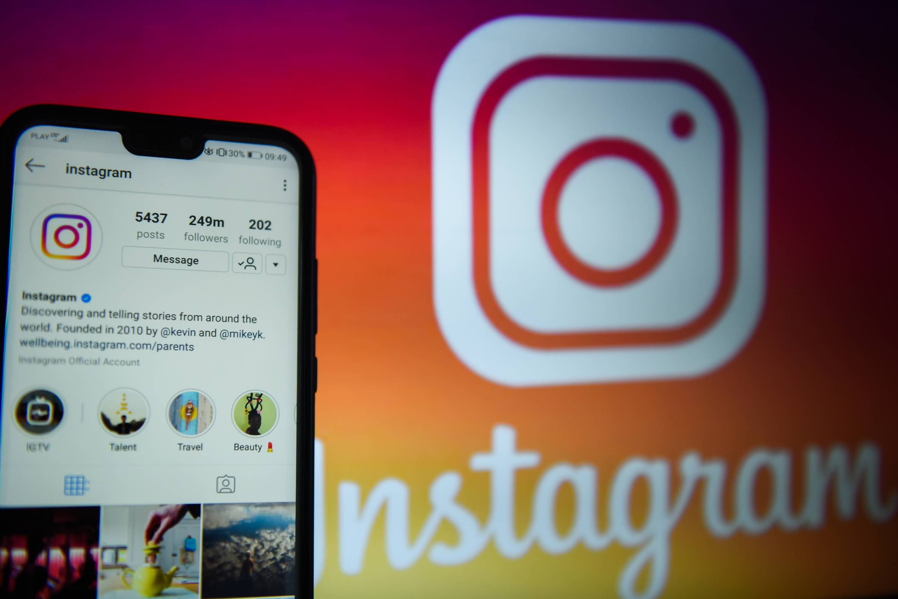 Instagram app is seen on an android mobile phone