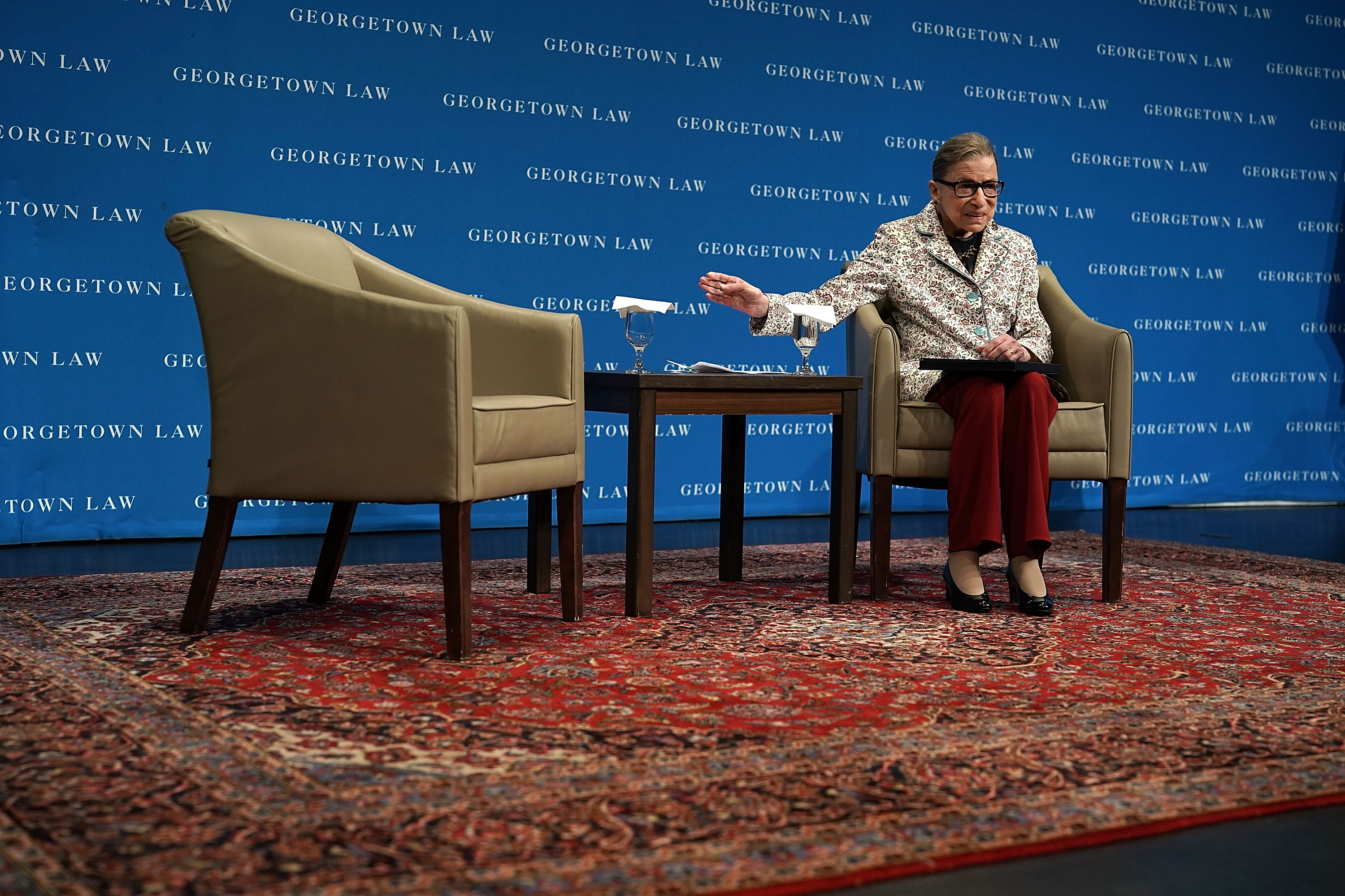 Supreme Court Justice Ruth Bader Ginsburg Gives Lecture At The Georgetown University Law Center