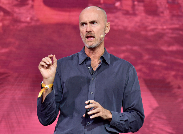 speaks onstage during Hospitality Moments of Truth at The Orpheum Theatre during Airbnb Open - Day 3  on November 19, 2016 in Los Angeles, California.