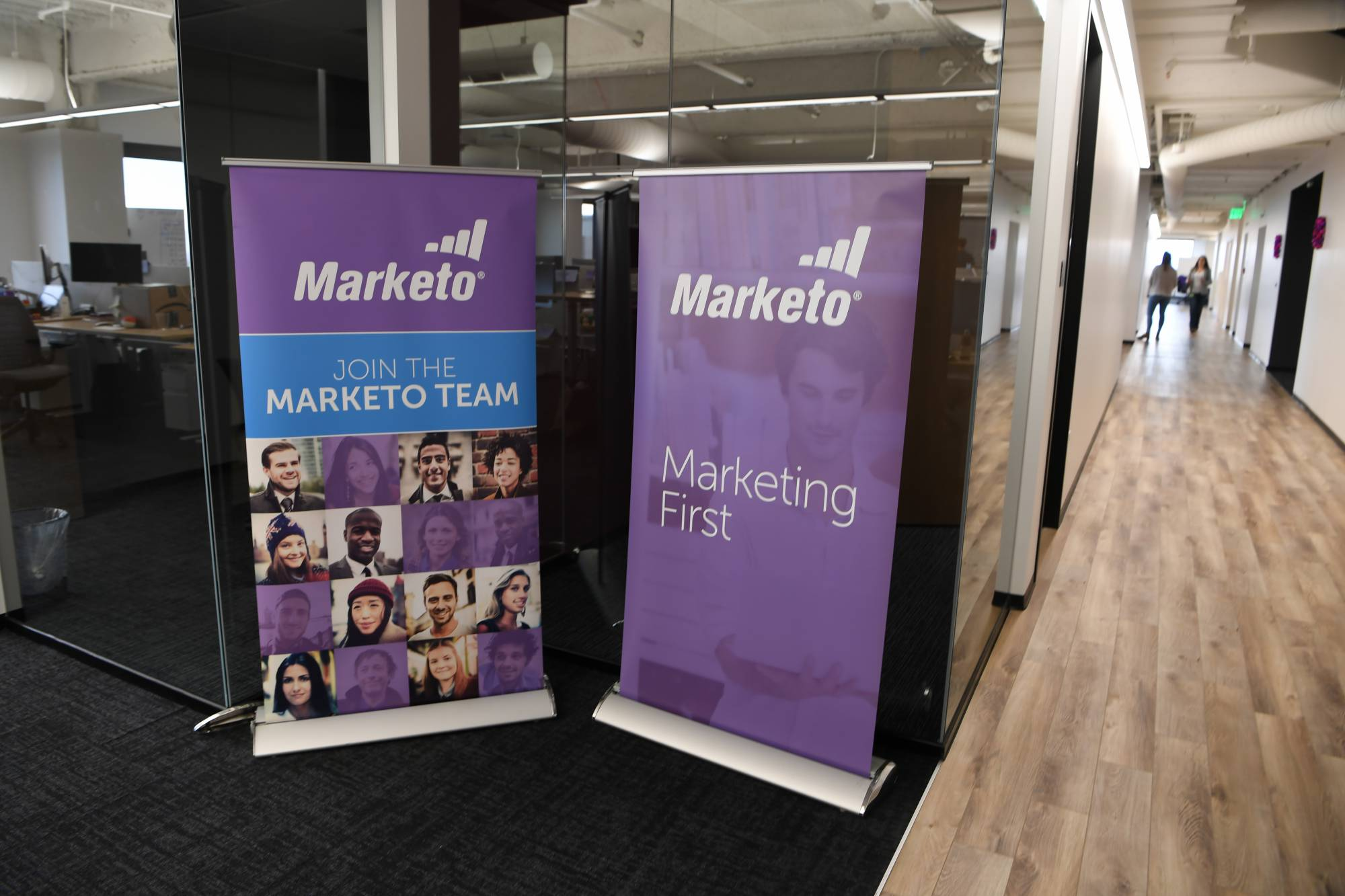 Marketo CEO Steve Lucas and Kathy Leeman, chief of staff/head of biz dev ¿
