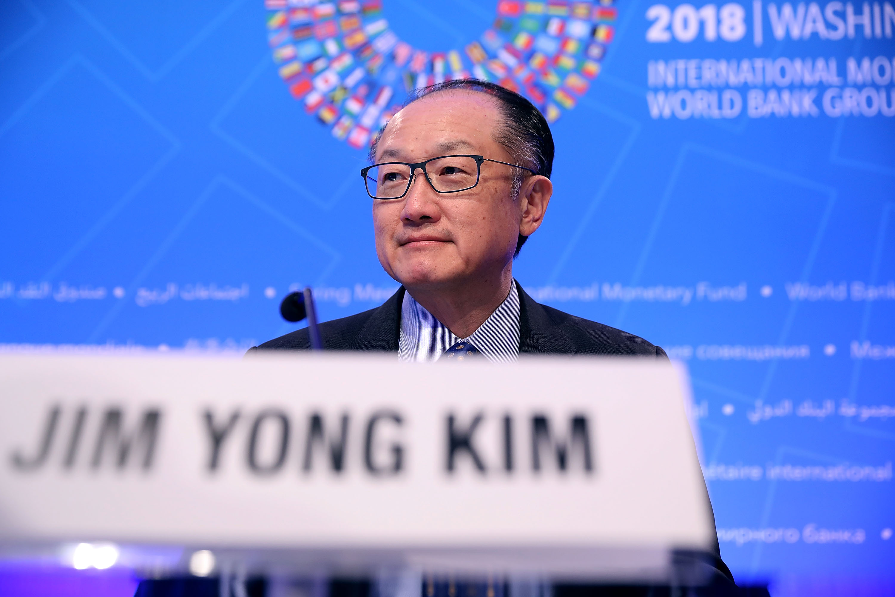 World Bank President Jim Yong Kim announced the new battery commitment on Wednesday. (Photo by Chip Somodevilla/Getty Images)