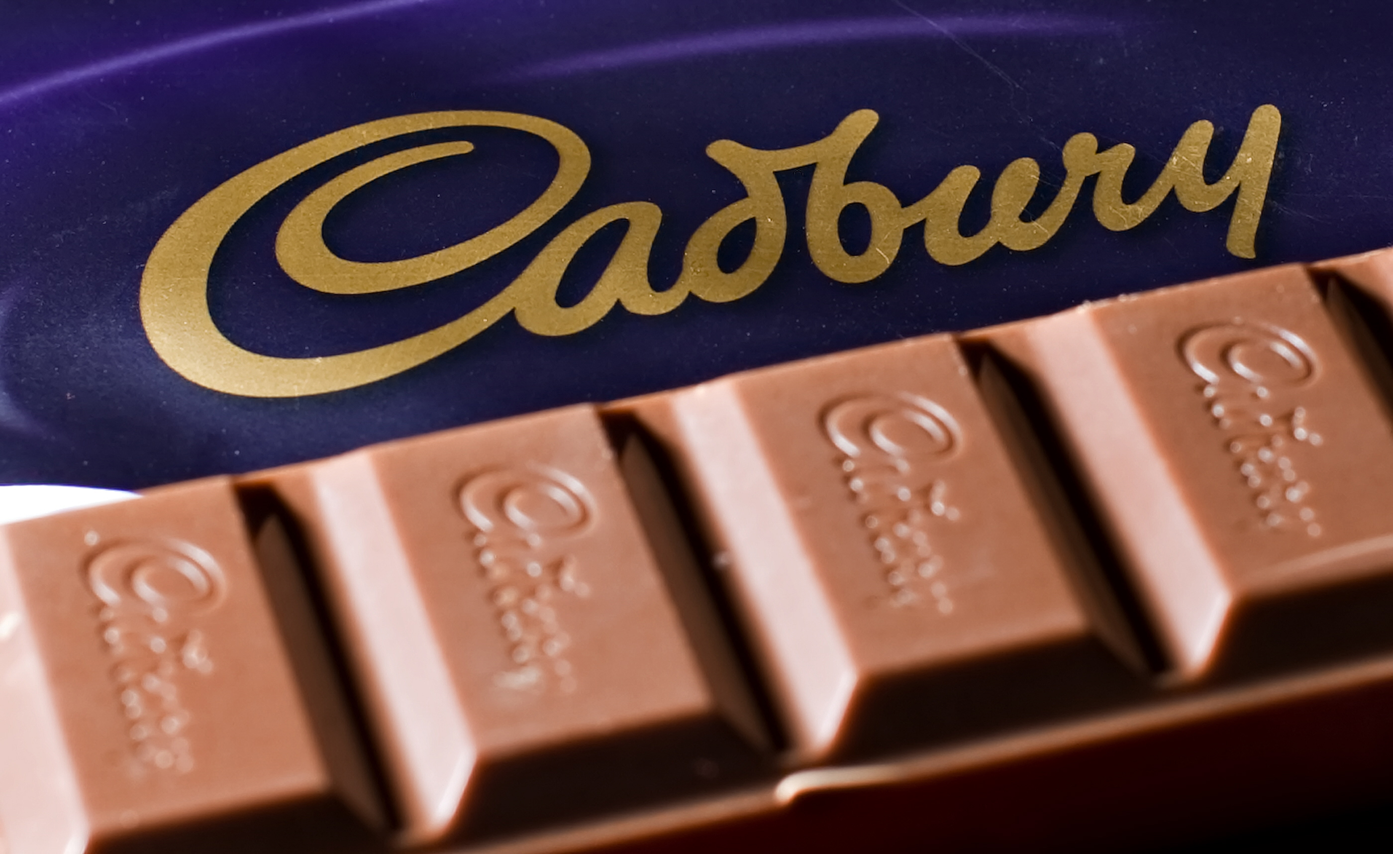 A bar of Cadbury's Dairy Milk chocolate