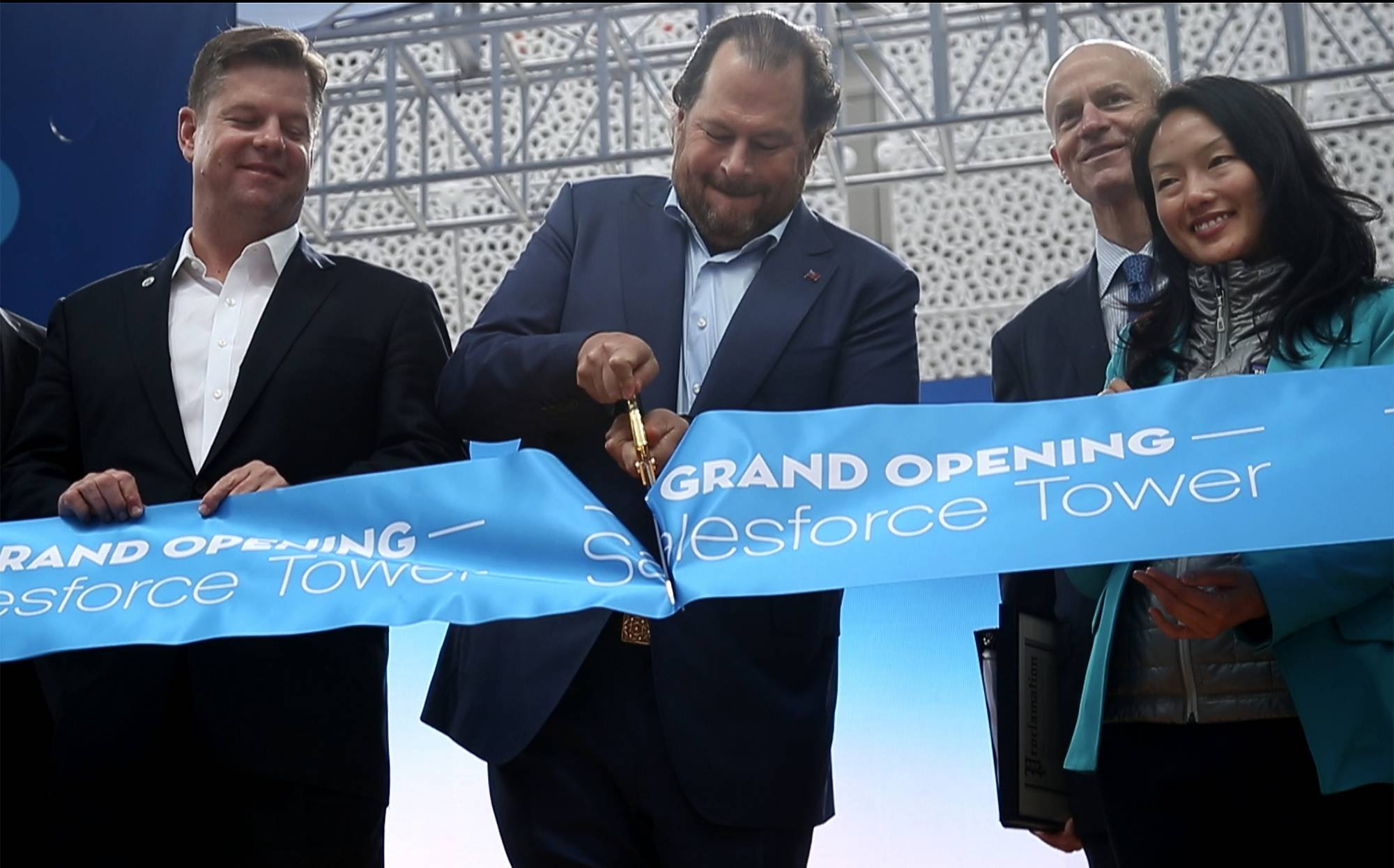 Salesforce CEO Marc Benioff talked at the annual Dreamforce conference in San Francisco.
