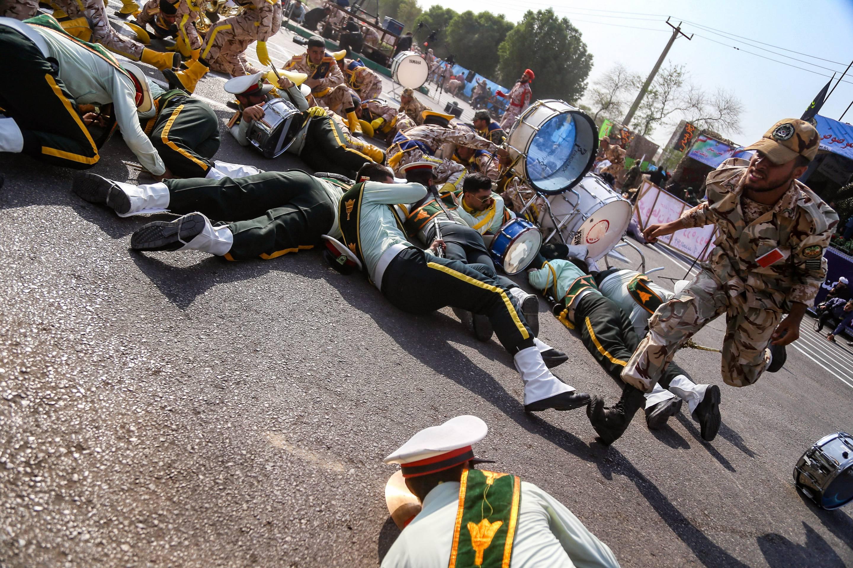 IRAN-MILITARY-UNREST-ATTACK