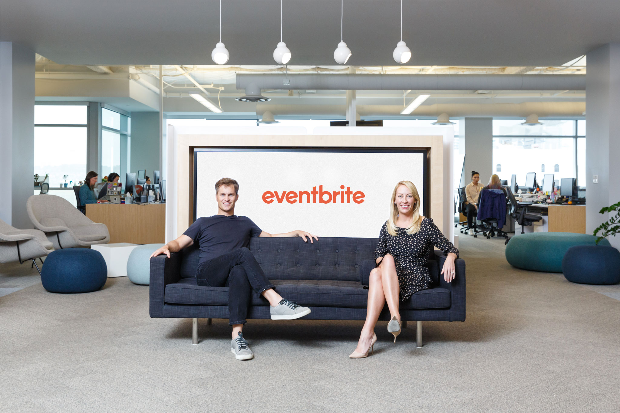 Eventbrite co-founders Julia and Kevin Hartz