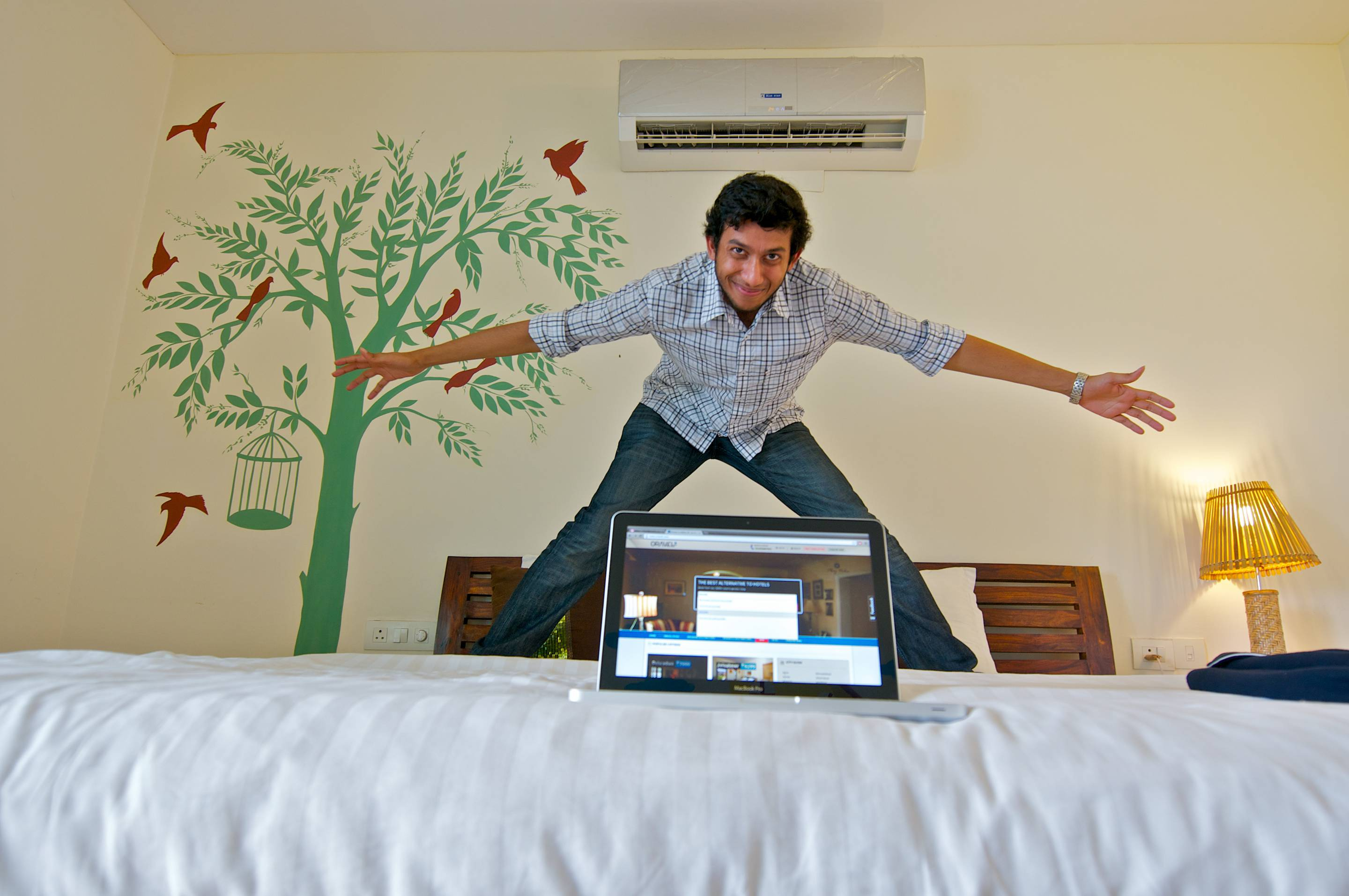 Ritesh Agarwal Poses During An Exclusive Interview