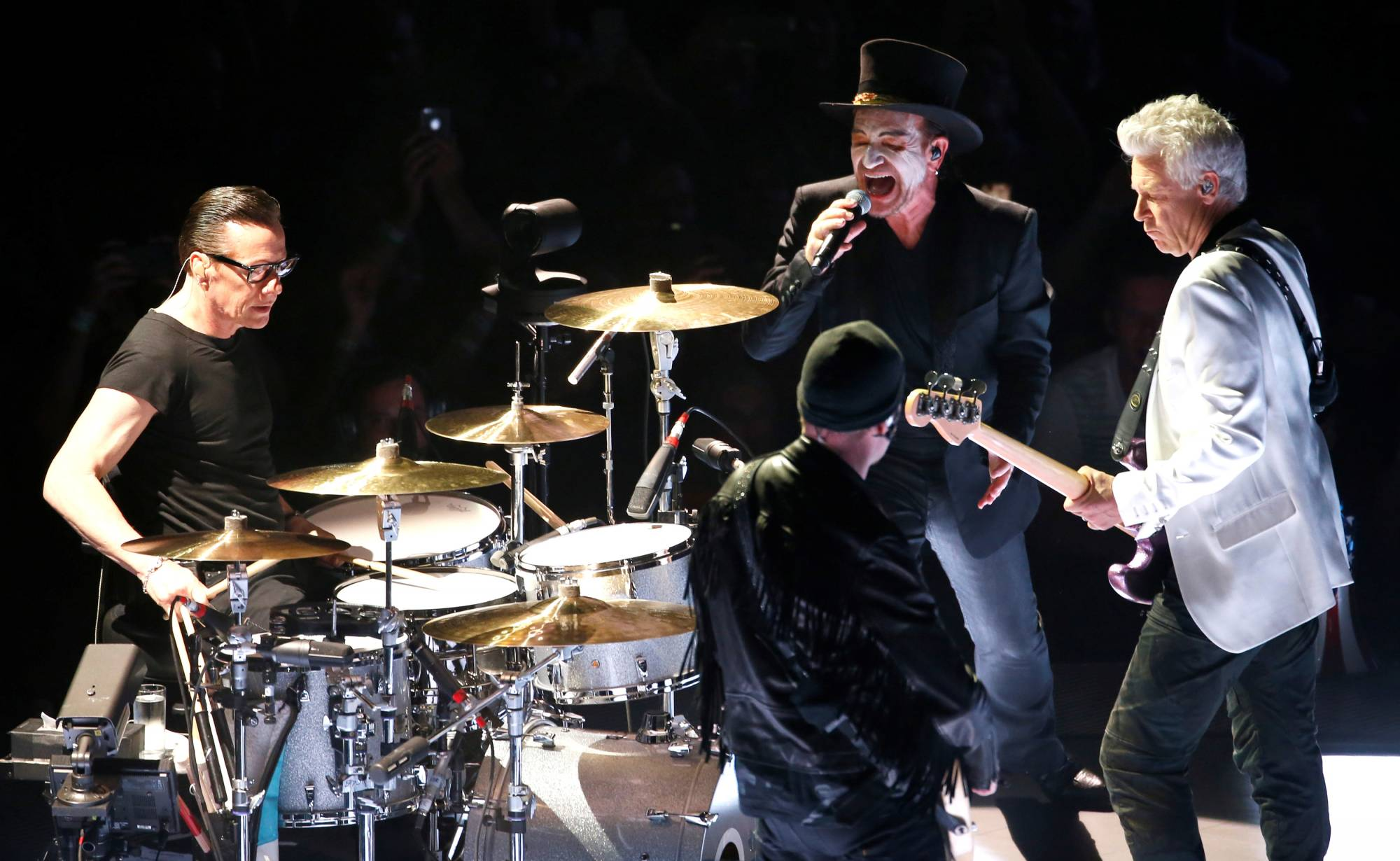 "U2 performs during the band's ""Experience + Innocence"" tour at The Forum in Inglewood"