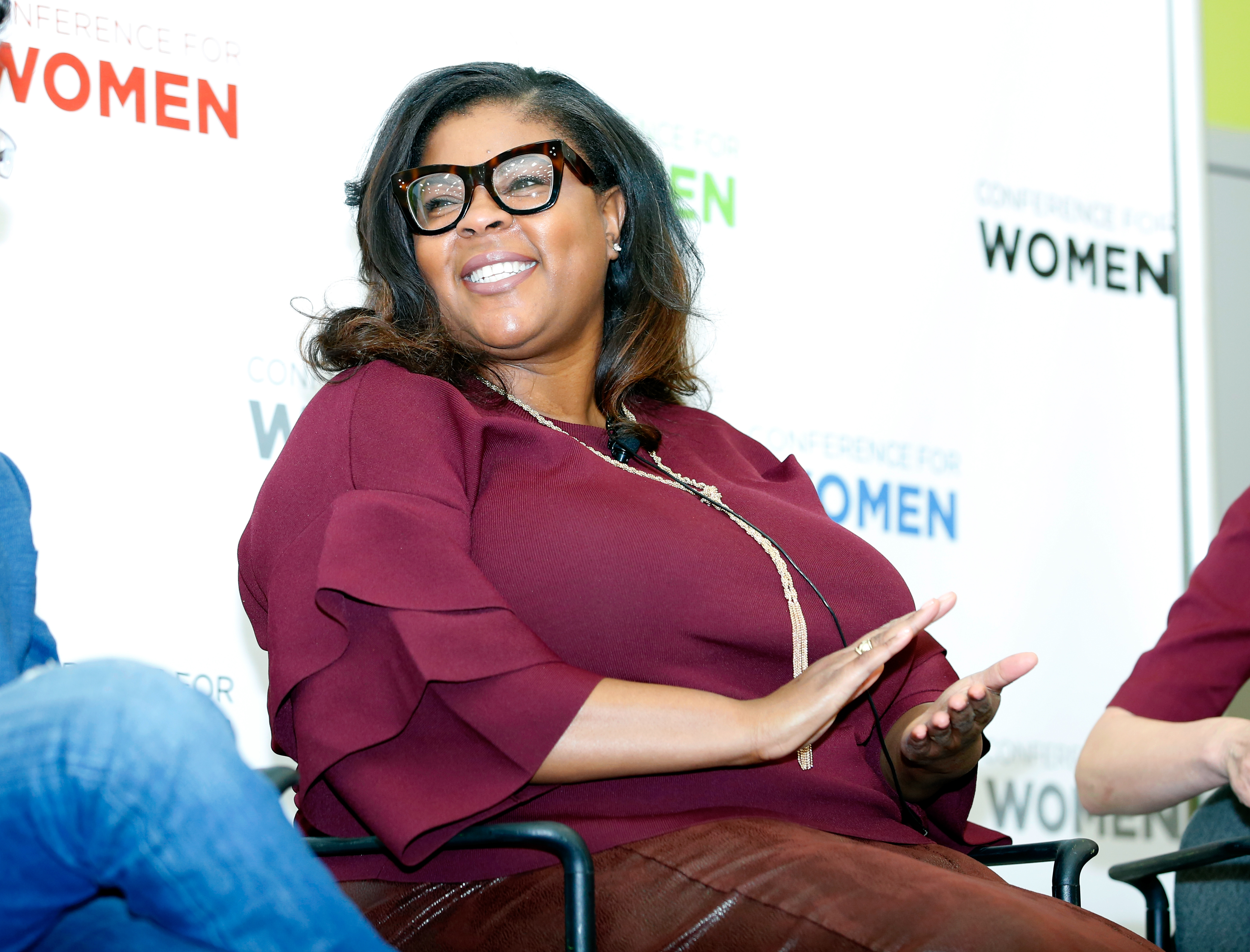 Senior director of global equality programs, Salesforce, Molly Q. Ford speaks at the Watermark Conference for Women 2018.