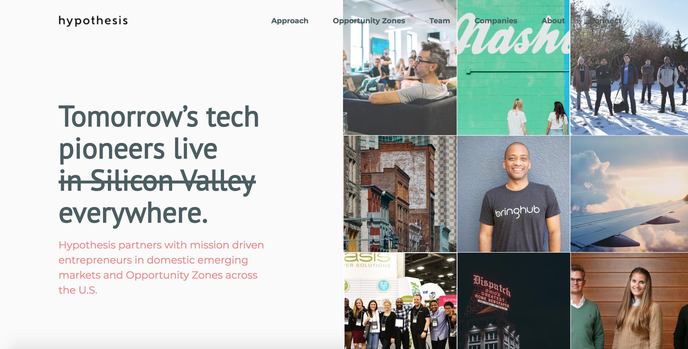 Hypothesis Ventures homepage