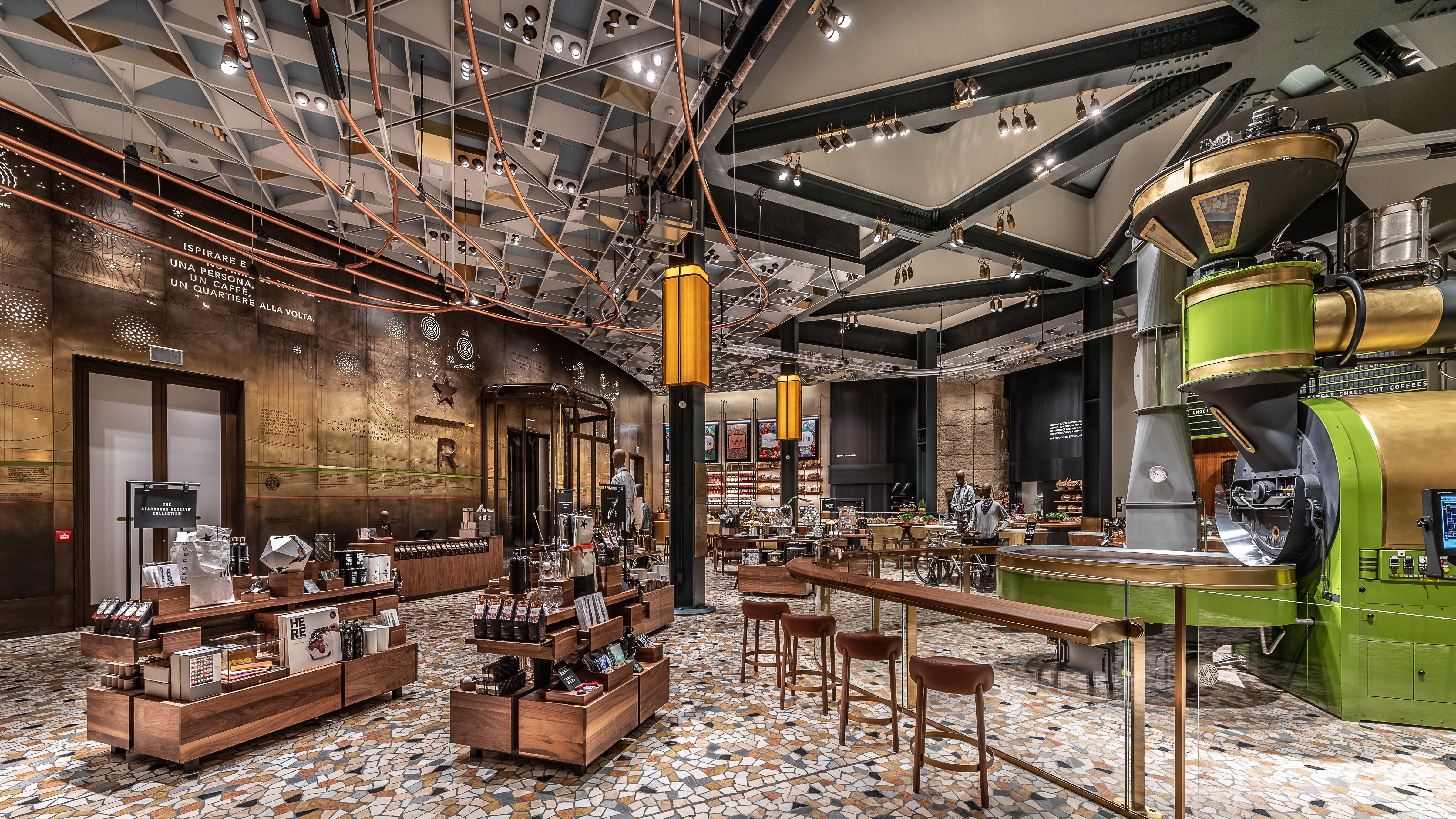 starbucks new cafe in milan
