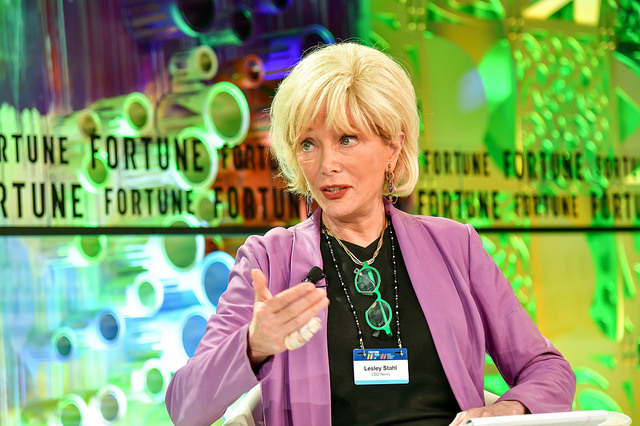 CBS News correspondent and author Lesley Stahl discusses her career with Fortune's Nina Easton at the Most Powerful Women Summit in Laguna Niguel, Calif. on October 3, 2018.