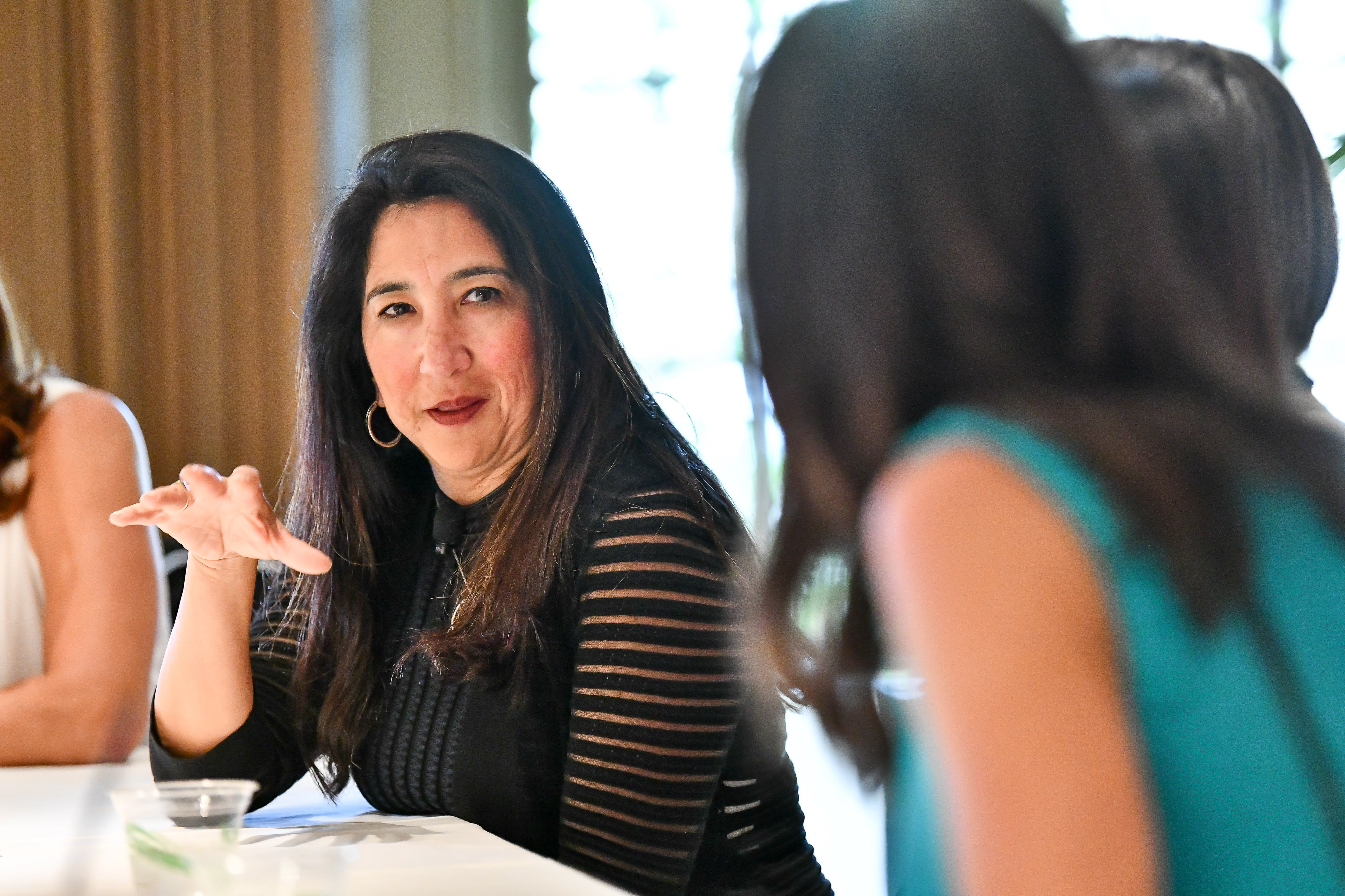Elena Gomez, CFO of Zendesk, speaks at a Fortune Most Powerful Women Summit on Monday. (Photograph by Fortune Most Powerful Women)