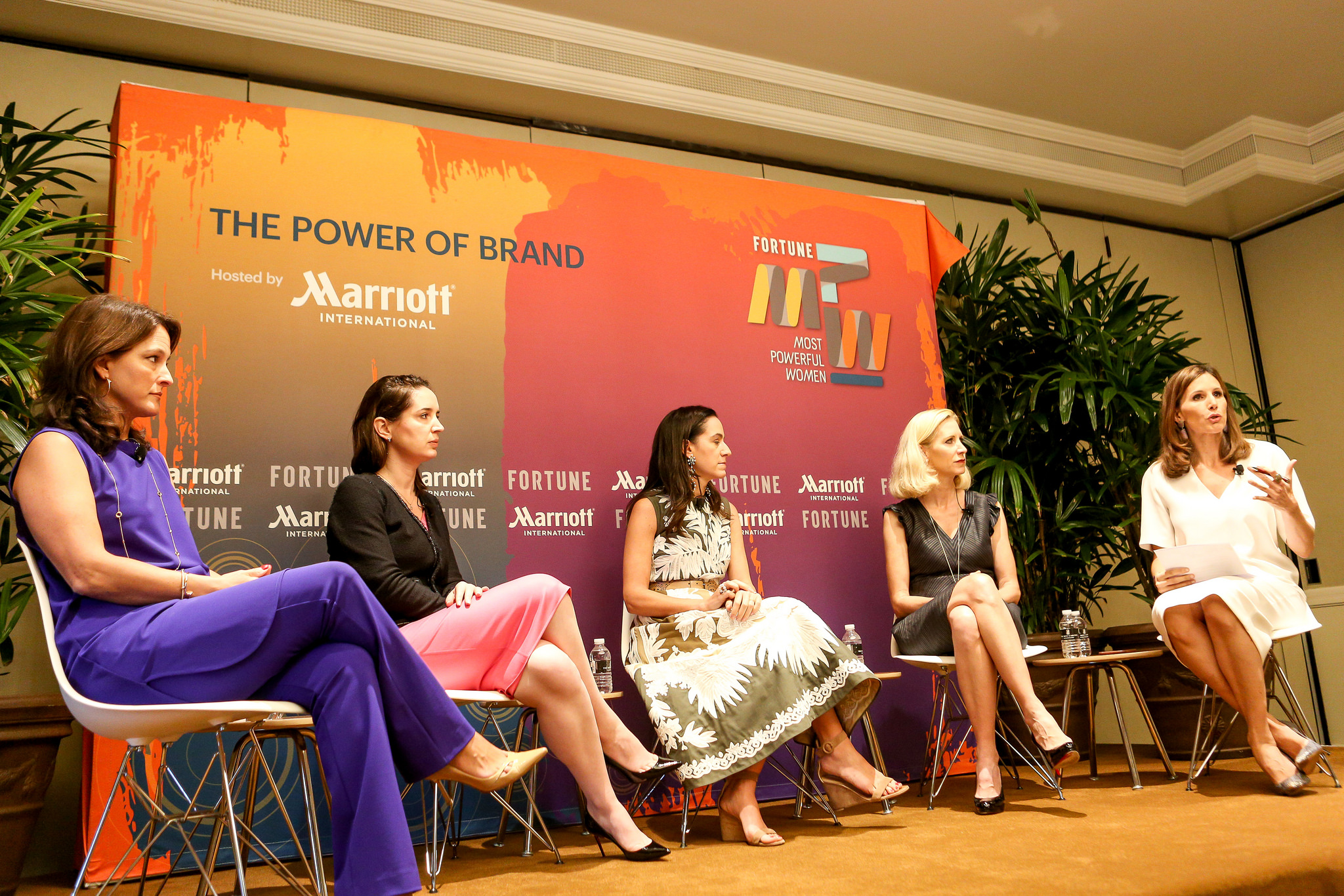 "The ""luxury redefined"" panel at Fortune's Most Powerful Women Summit in Laguna Niguel, Calif."
