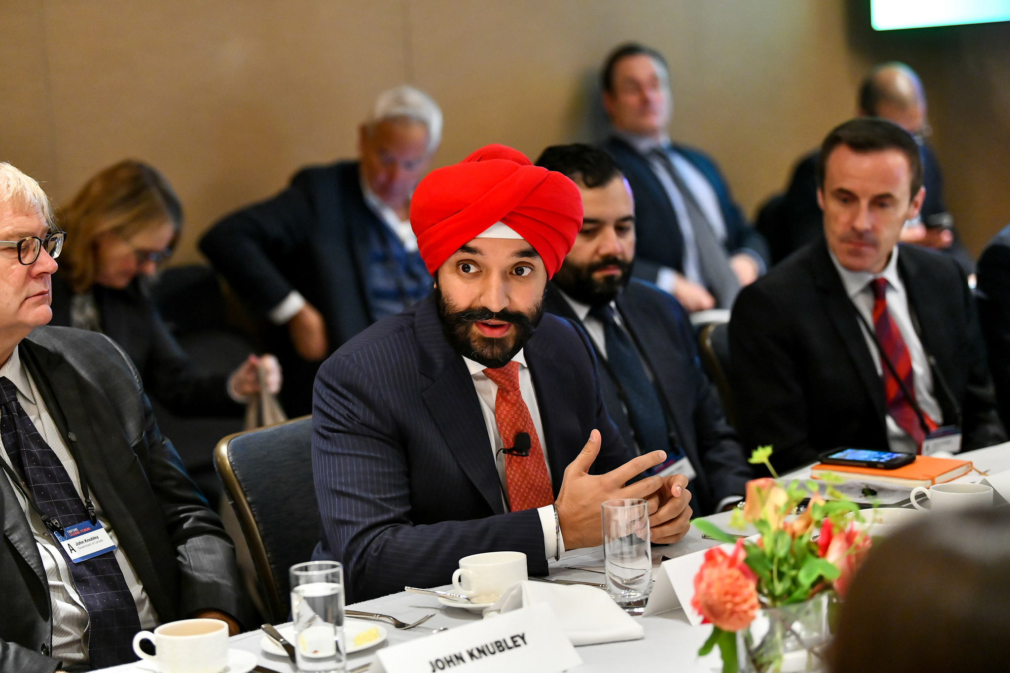 Navdeep Bains, minister of innovation, science and economic development, Canada. Fortune Global Forum in Toronto, Canada on Oct. 17 2018.