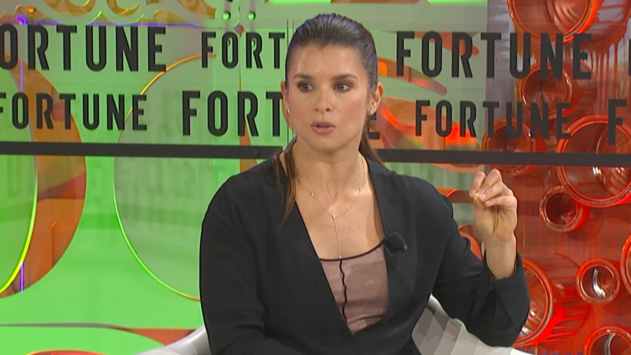 Danica Patrick talks about her plans for retirement from professional racing at Fortune's Most Powerful Women Summit in Laguna Niguel, Calif.