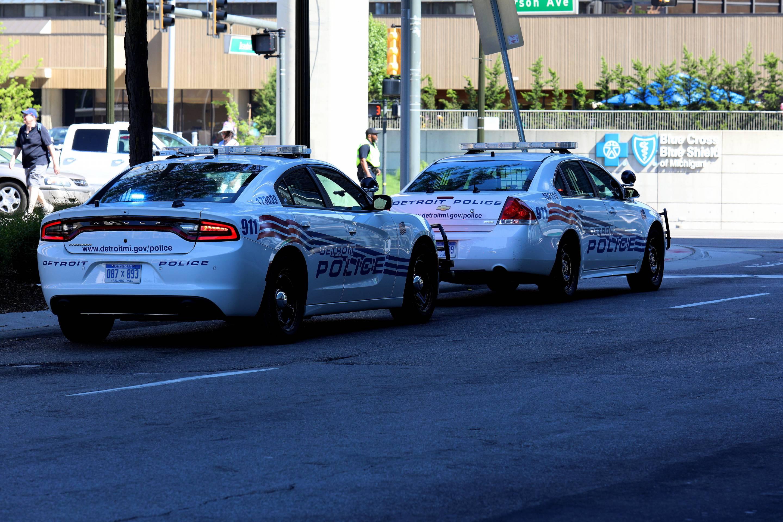 Detroit police cars