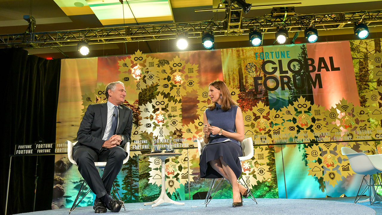 Sidewalk Labs CEO Dan Doctoroff speaks with Fortune's Leigh Gallagher at the Fortune Global Forum in Toronto, Canada on Oct. 17, 2018.