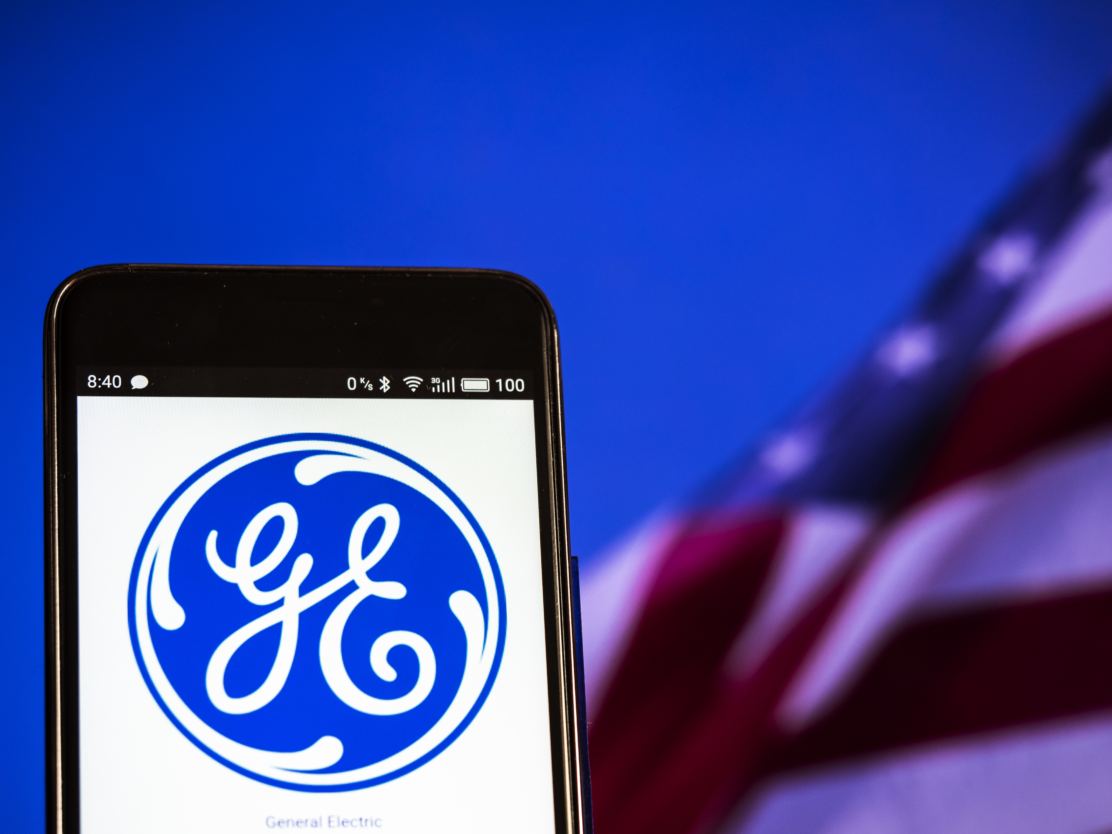 General Electric logo seen displayed on a smart phone