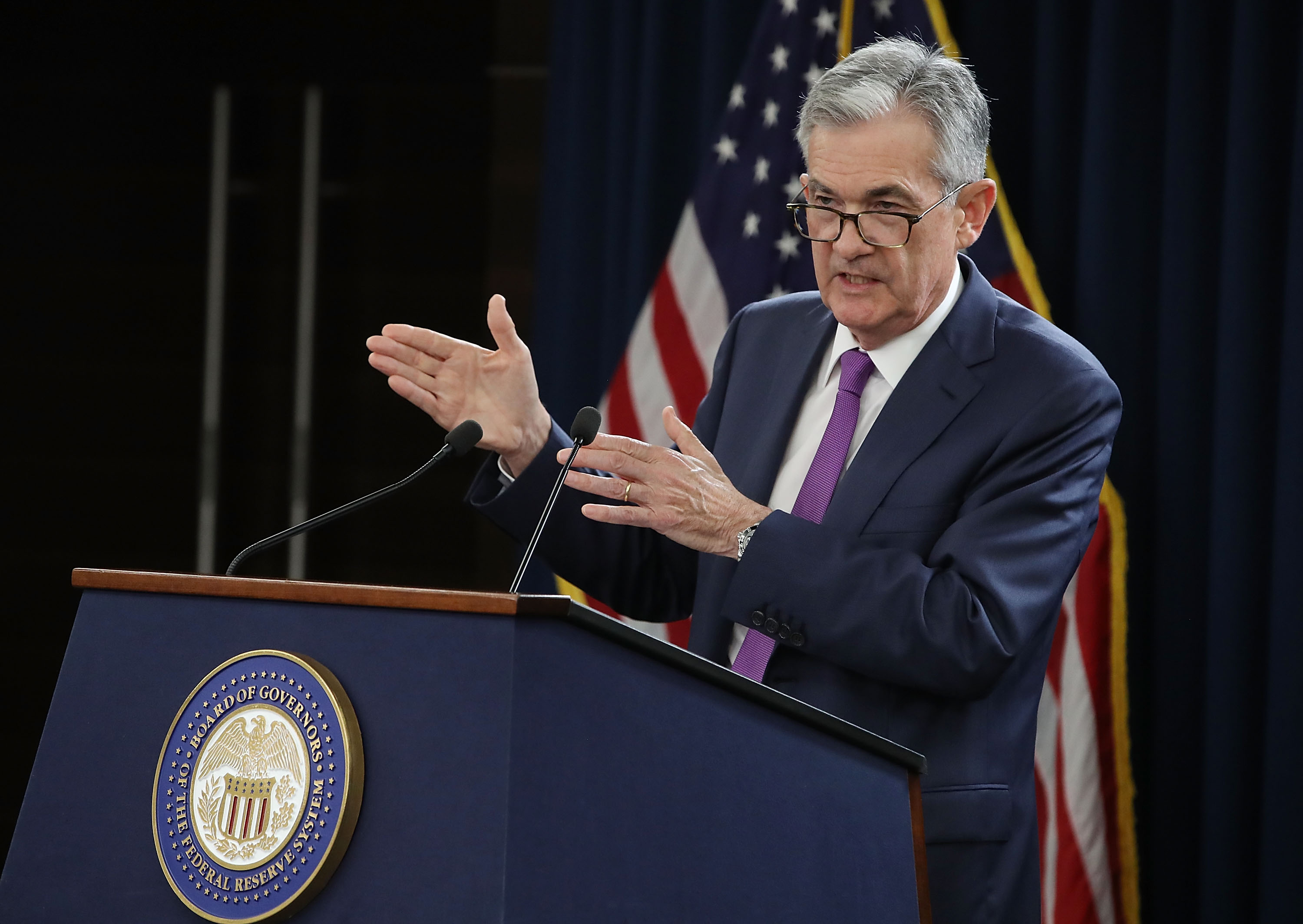 Federal Reserve Chairman Jerome Powell Holds A News Conference Following Federal Open Market Committee Meeting