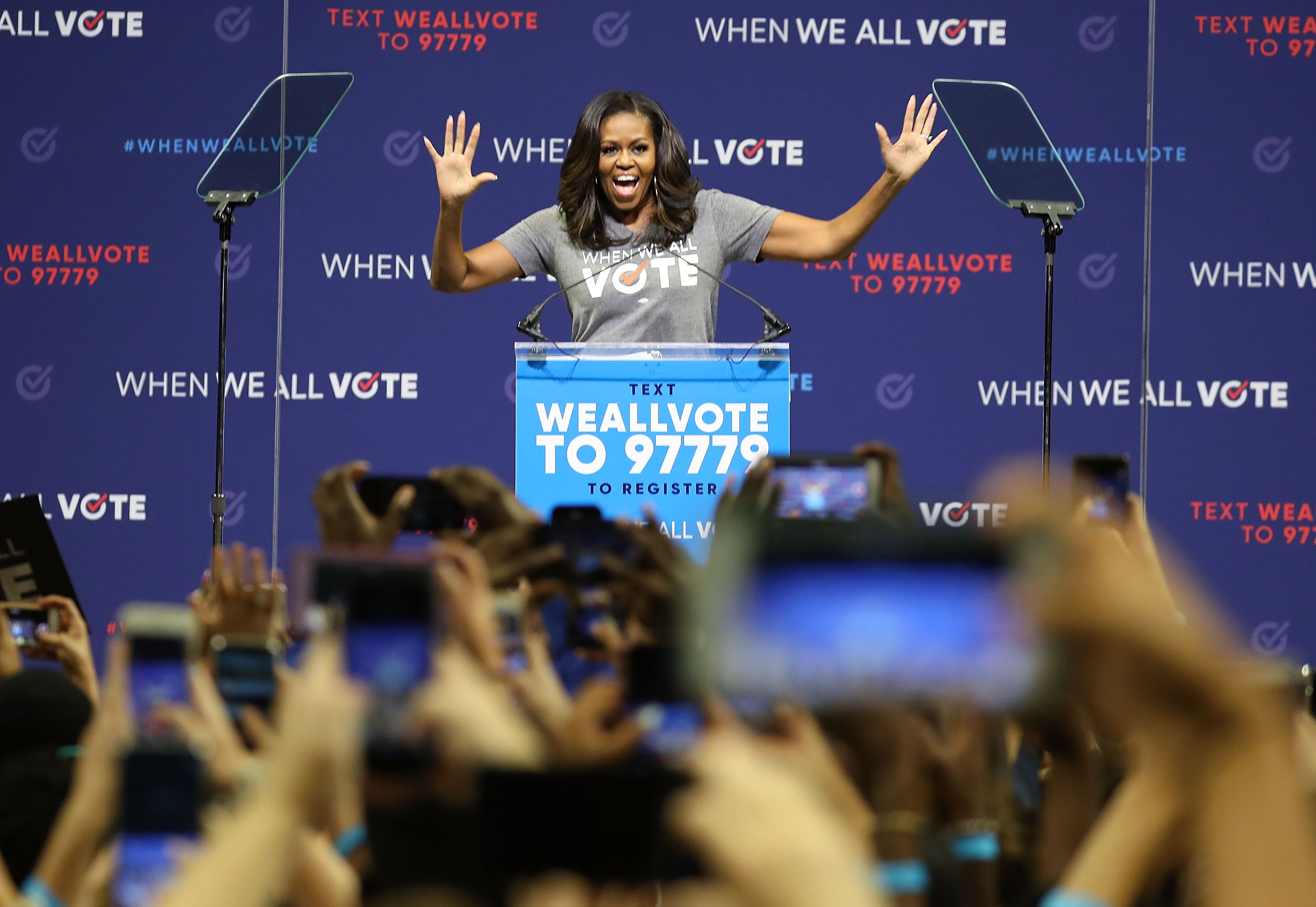 Michelle Obama Addresses Voter Registration Rally In Florida