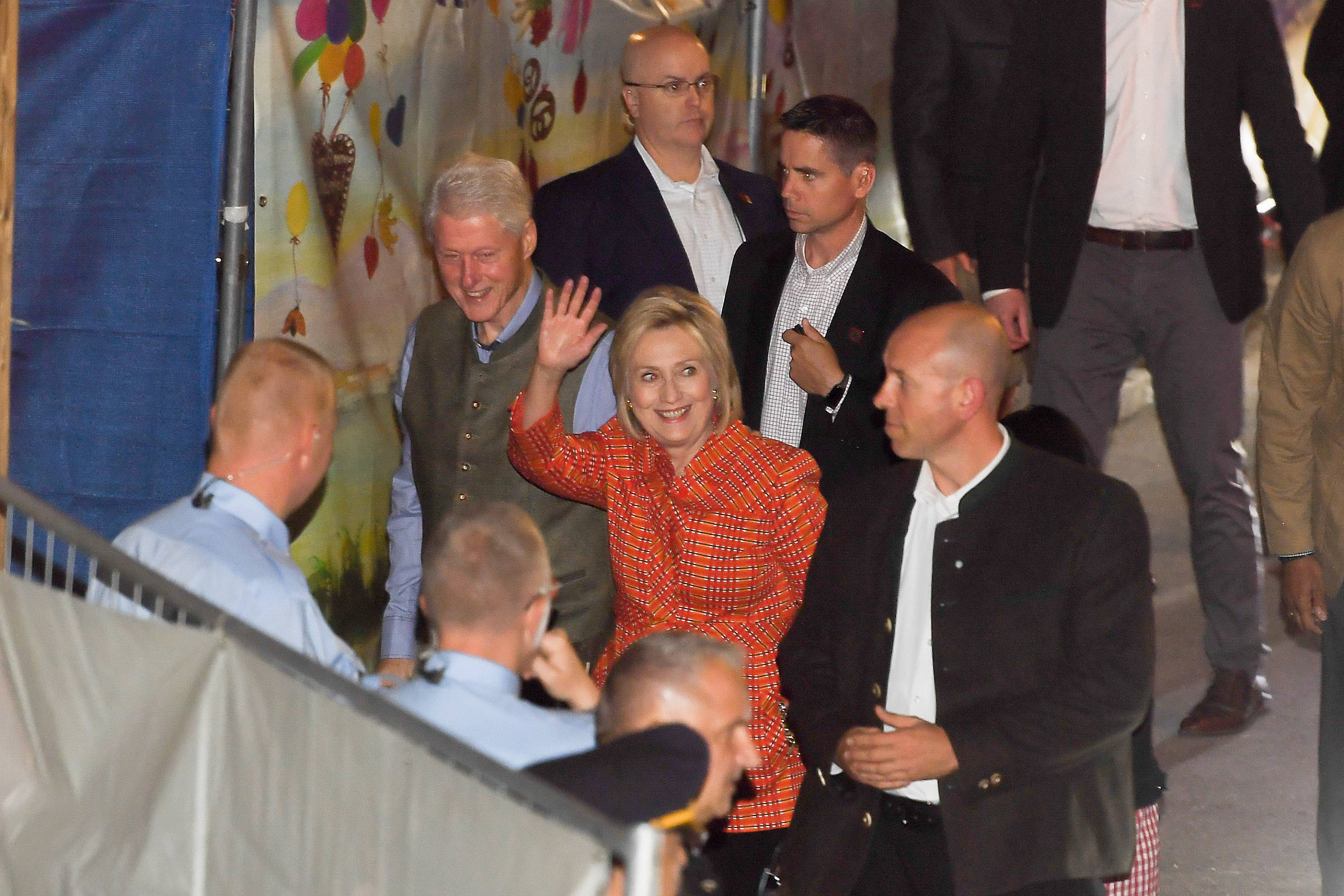 Oktoberfest 2018 - Bill and Hillary Clinton