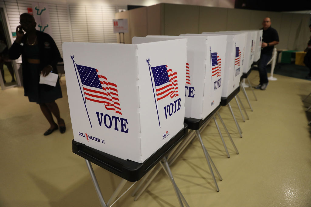 A ballot measure on Election Day 2018 could see Florida felons—with some exceptions—regain their voting rights. (Photo by Joe Raedle/Getty Images)