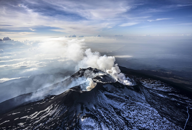 Aerial Views Of Volcano Mount Etna