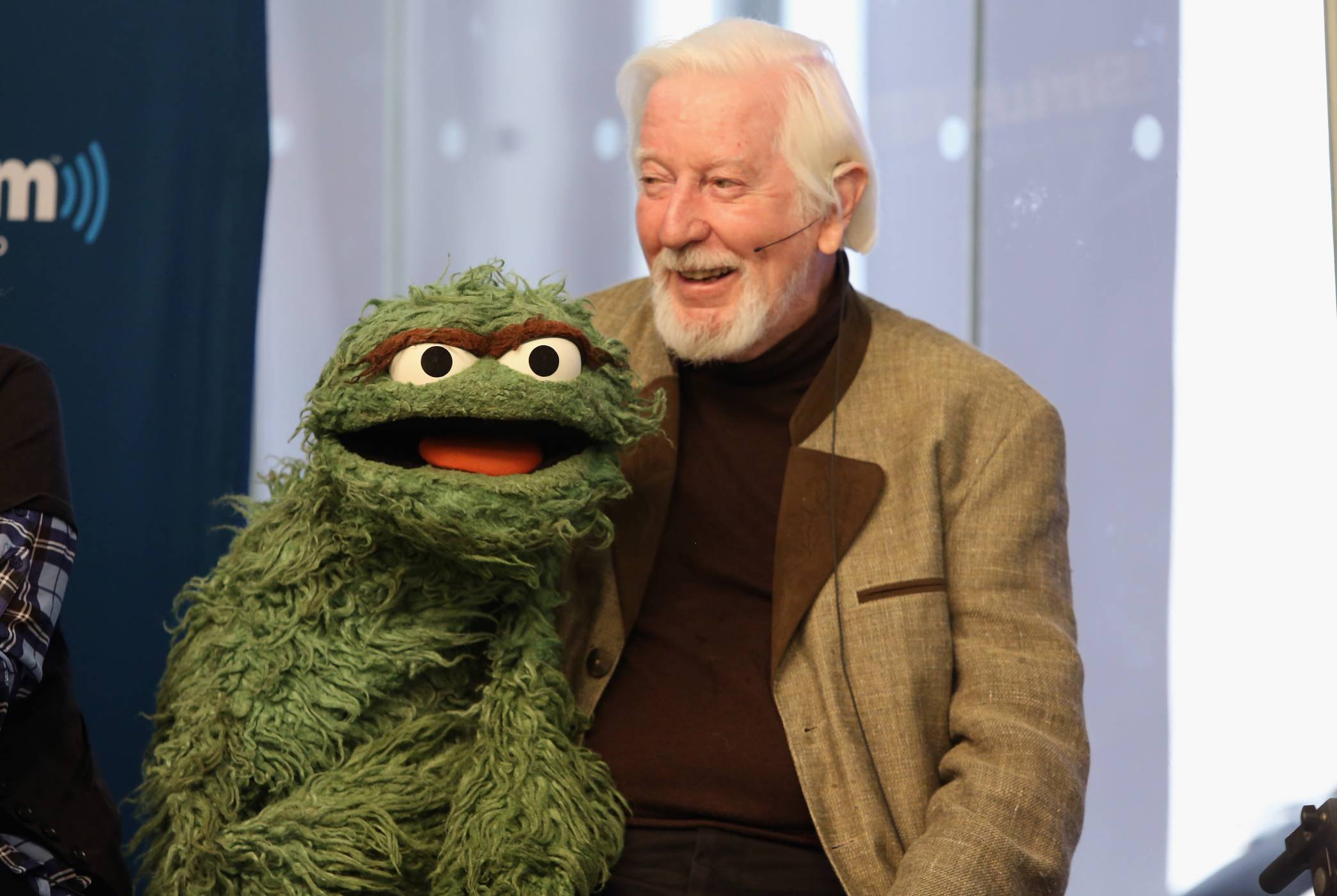 Carroll Spinney with Oscar the Grouch