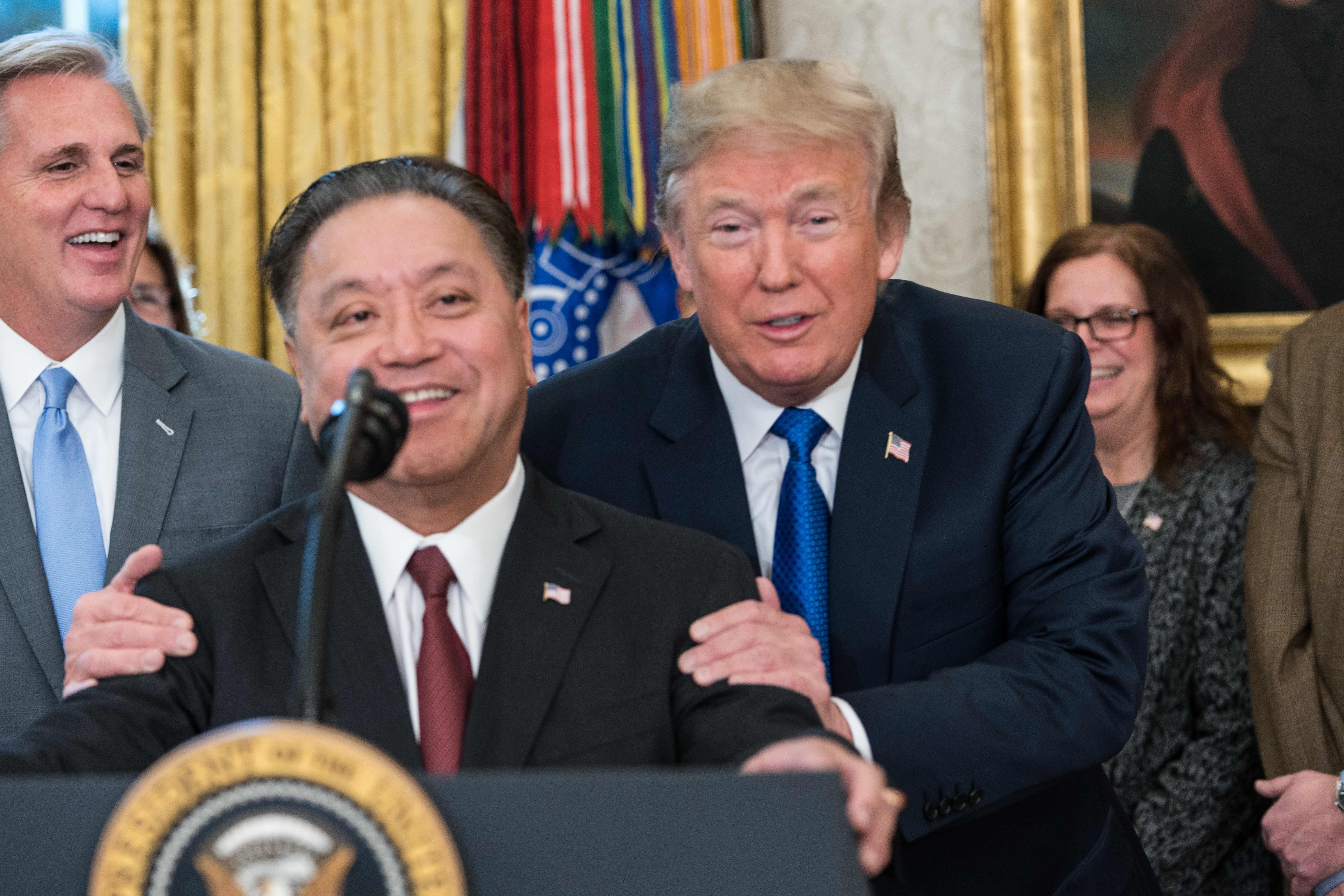 Broadcom CEO Hock Tan at the White House