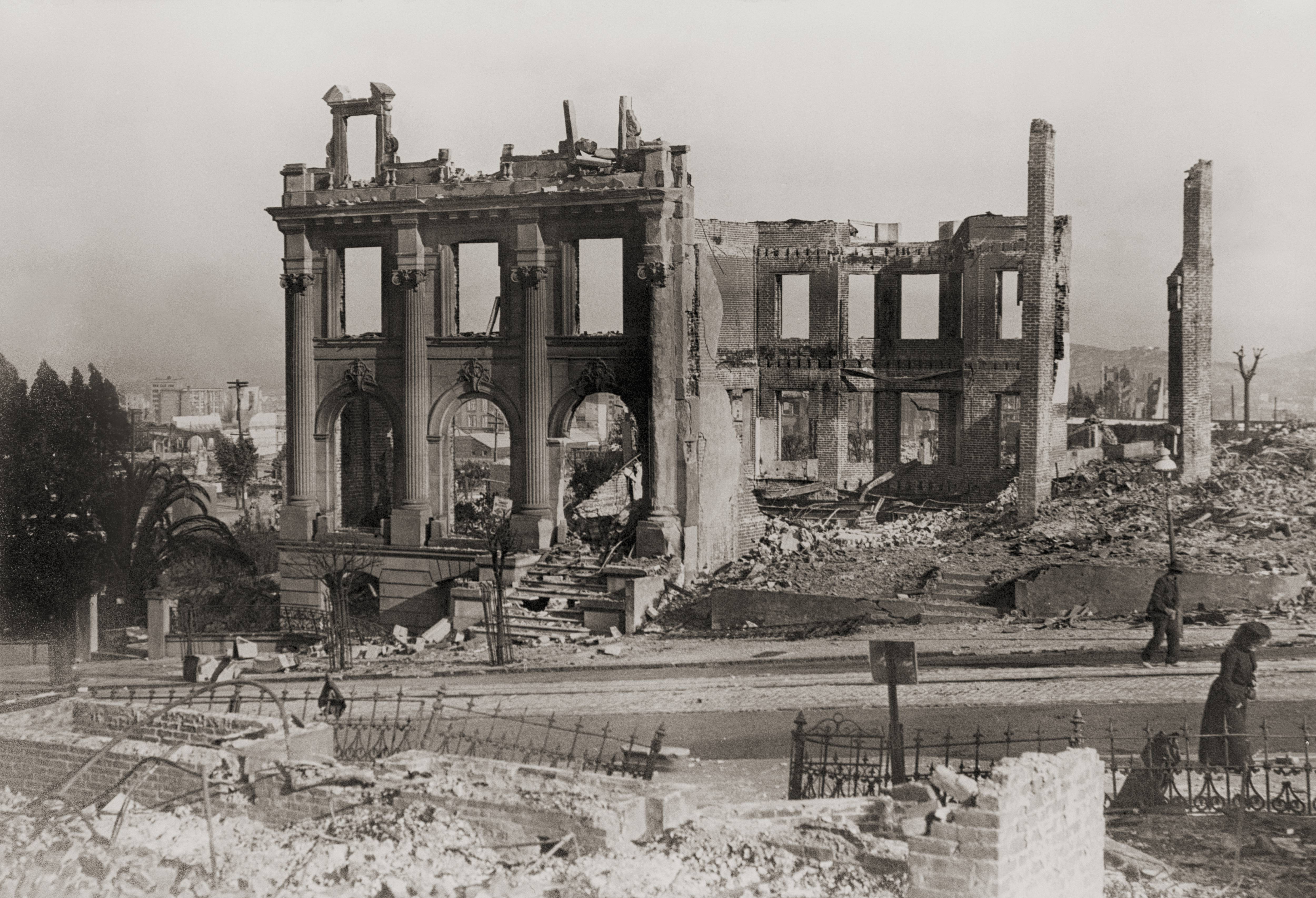 Ruins in San Francisco, California, United States of America, after the earthquake of April 18, 1906
